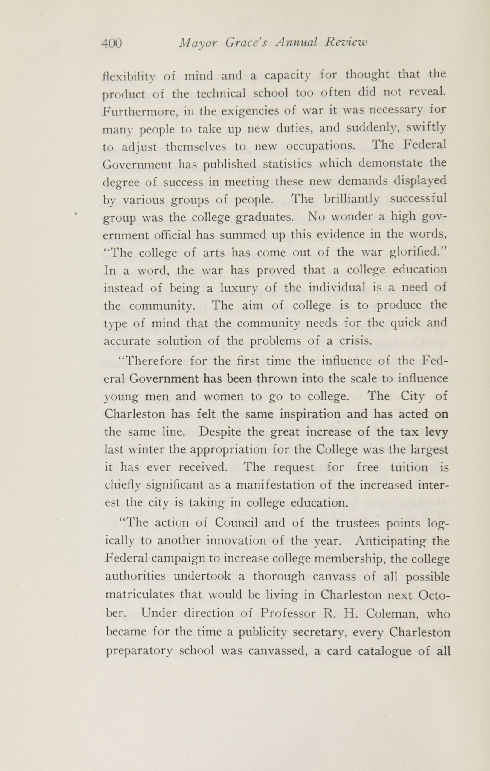 Charleston Yearbook, 1920, page 400