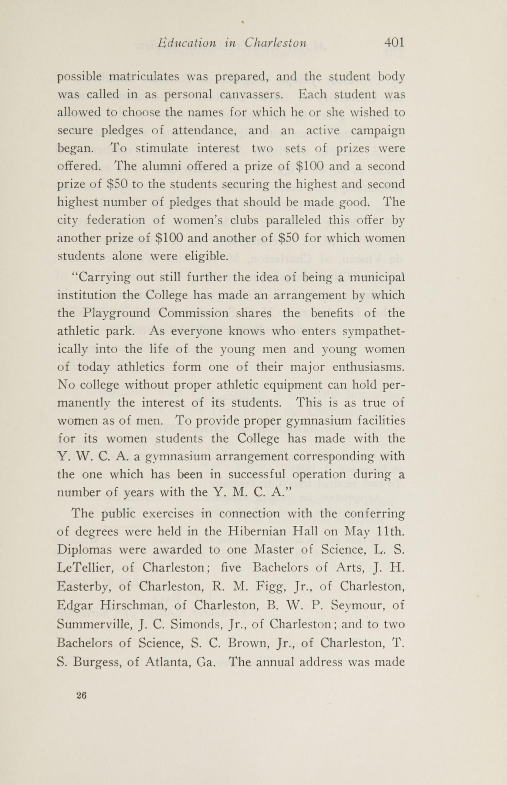 Charleston Yearbook, 1920, page 401