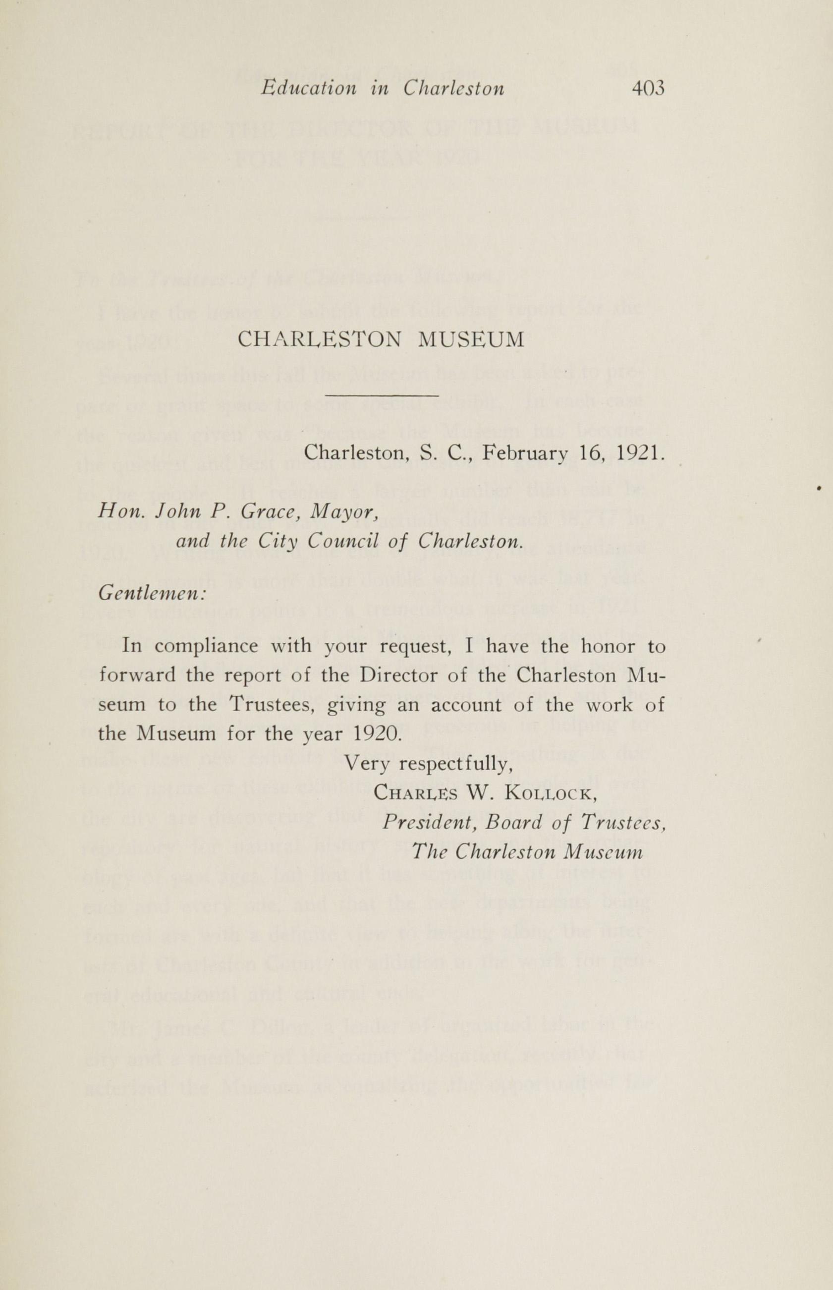 Charleston Yearbook, 1920, page 403