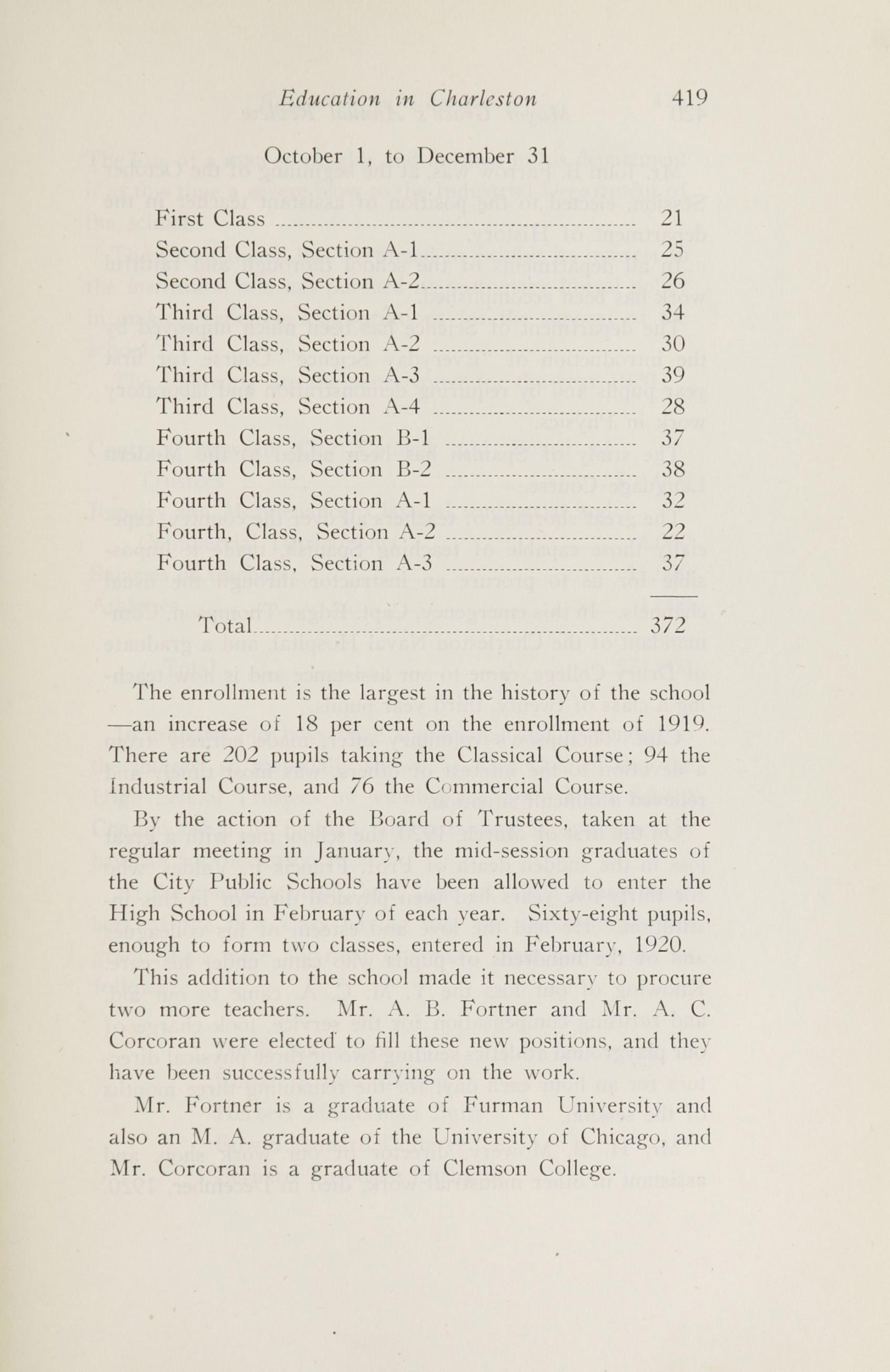 Charleston Yearbook, 1920, page 419