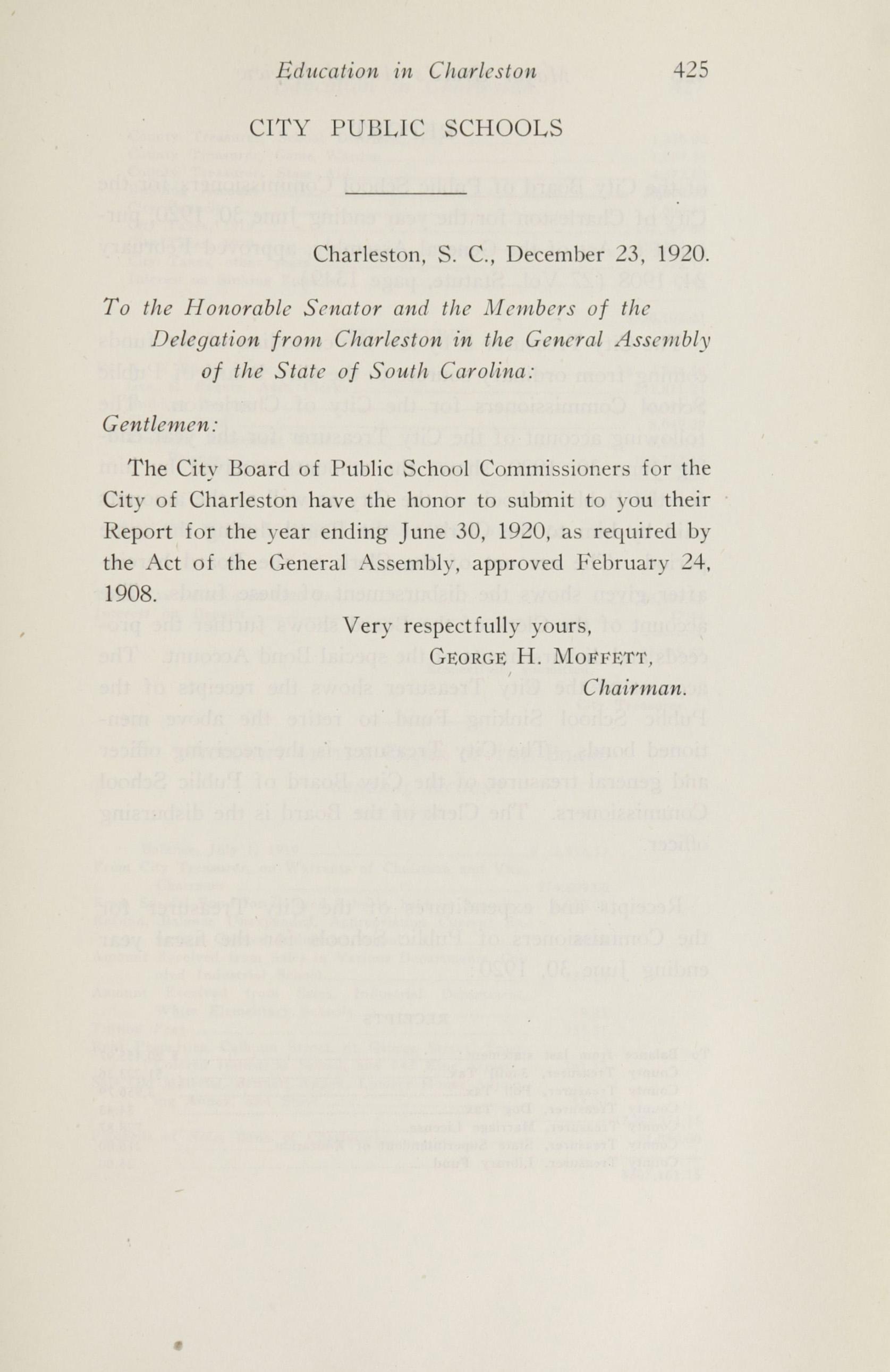 Charleston Yearbook, 1920, page 425
