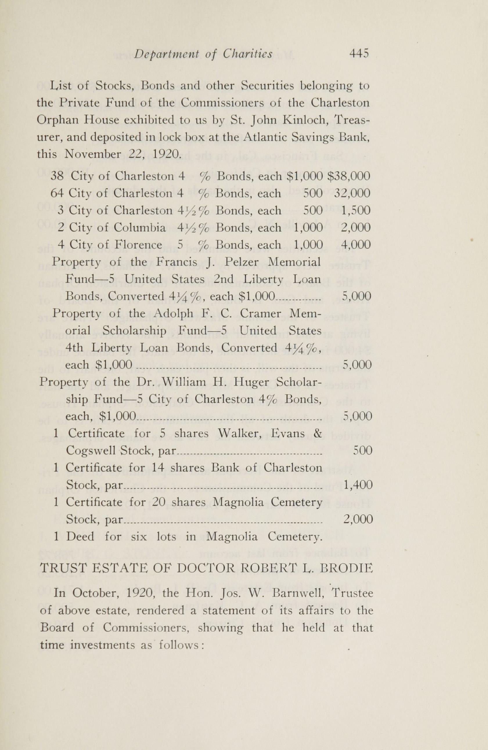 Charleston Yearbook, 1920, page 445