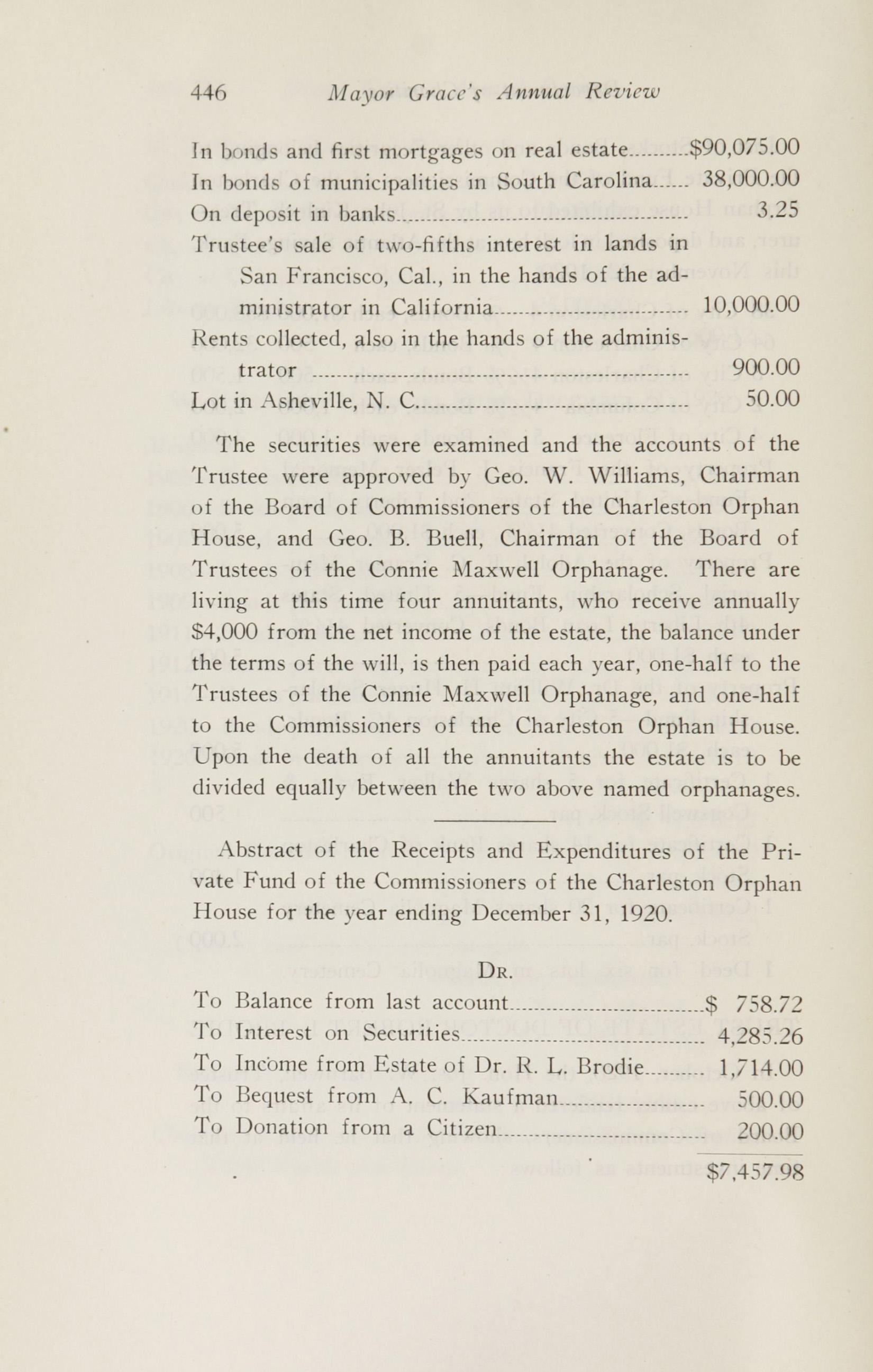 Charleston Yearbook, 1920, page 446