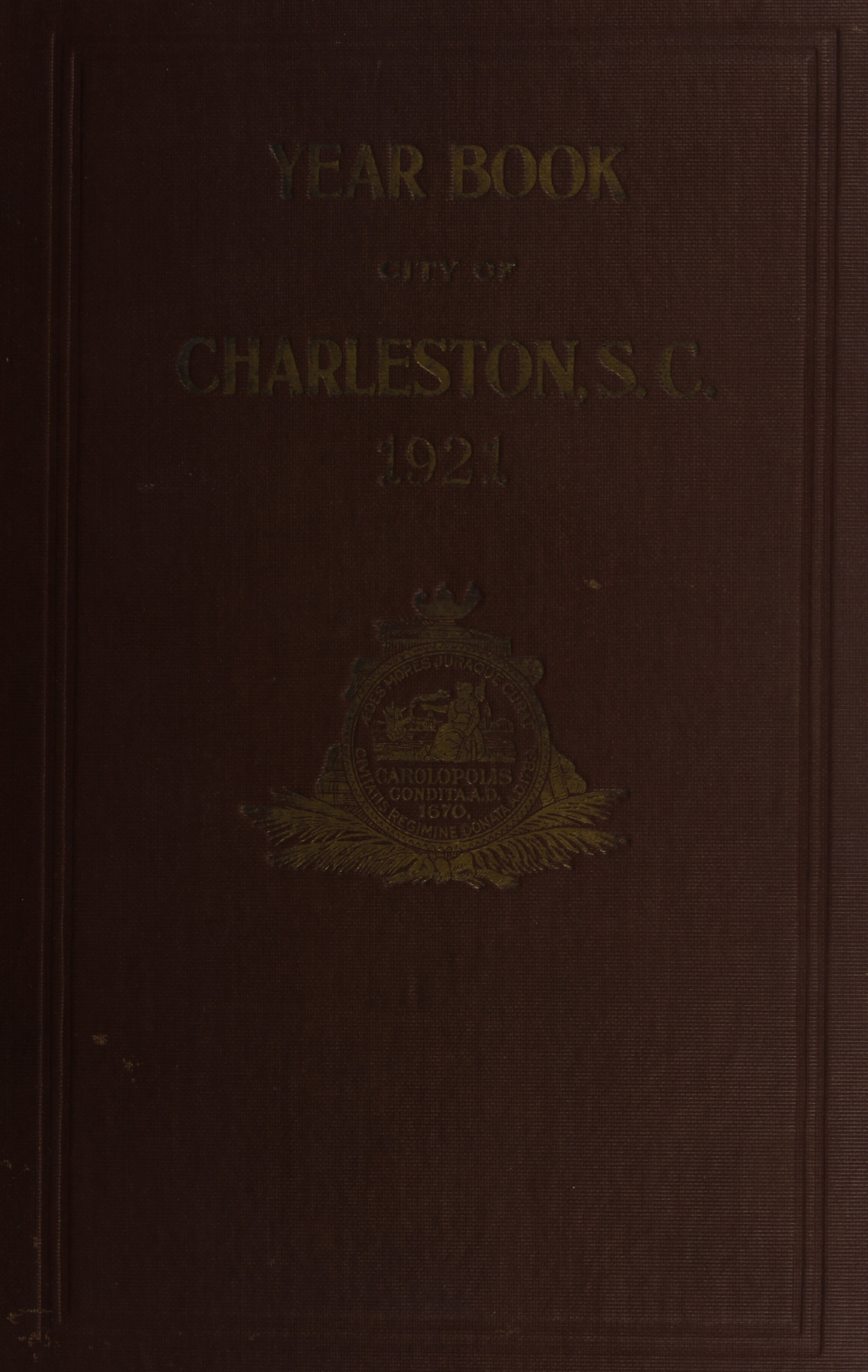 Charleston Yearbook, 1921, cover