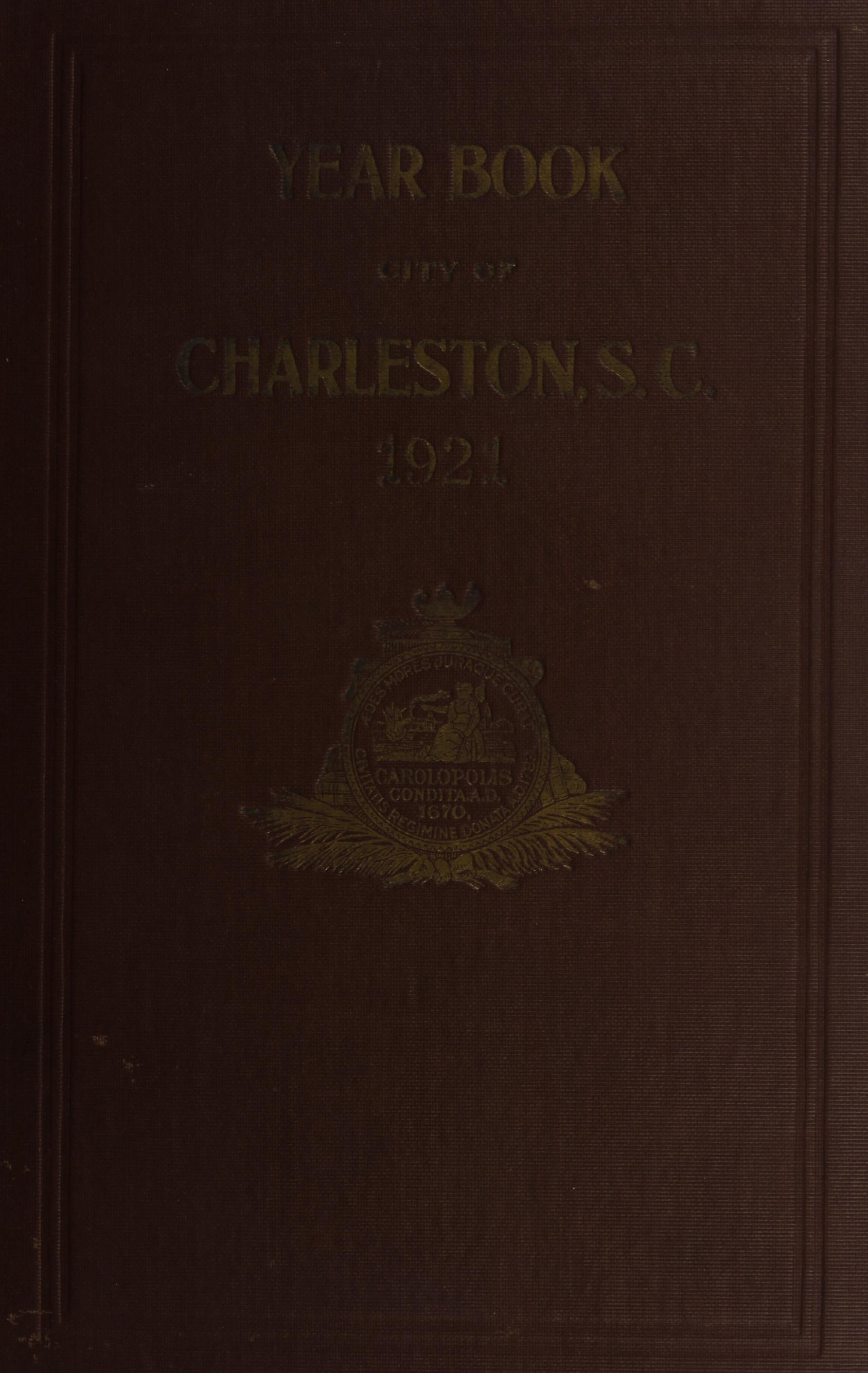 Charleston Yearbook, 1921, cover