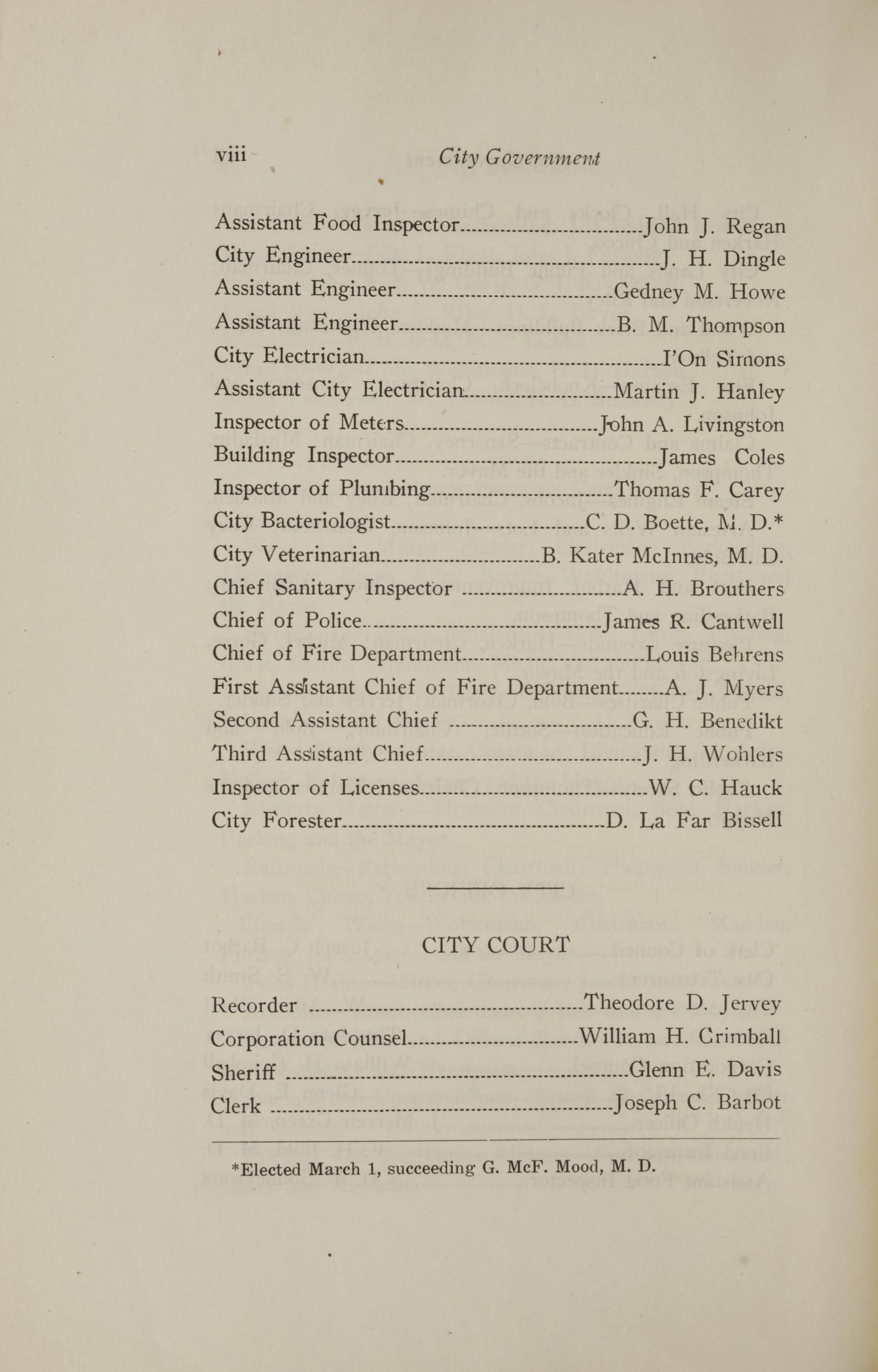 Charleston Yearbook, 1921, page viii