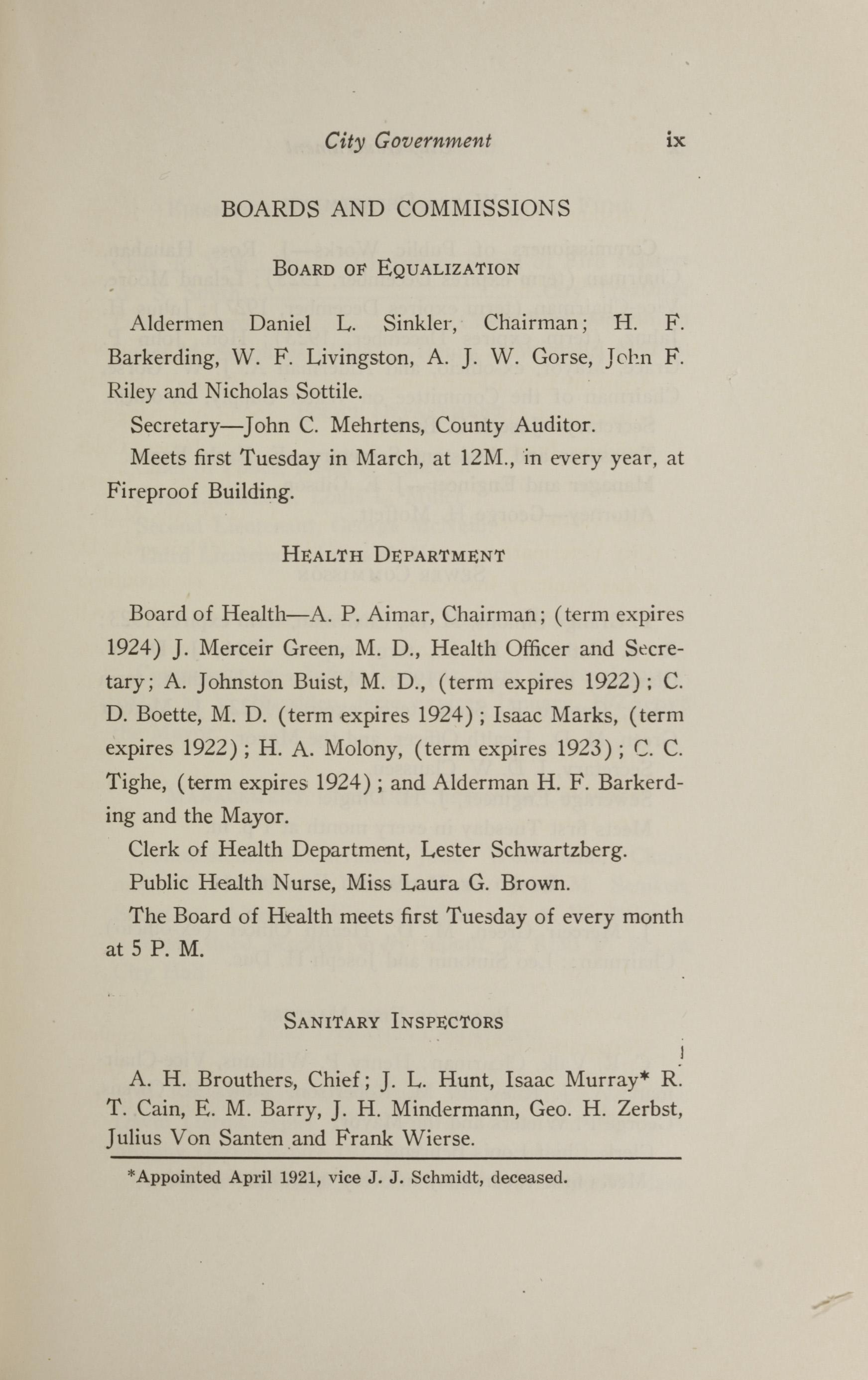 Charleston Yearbook, 1921, page ix
