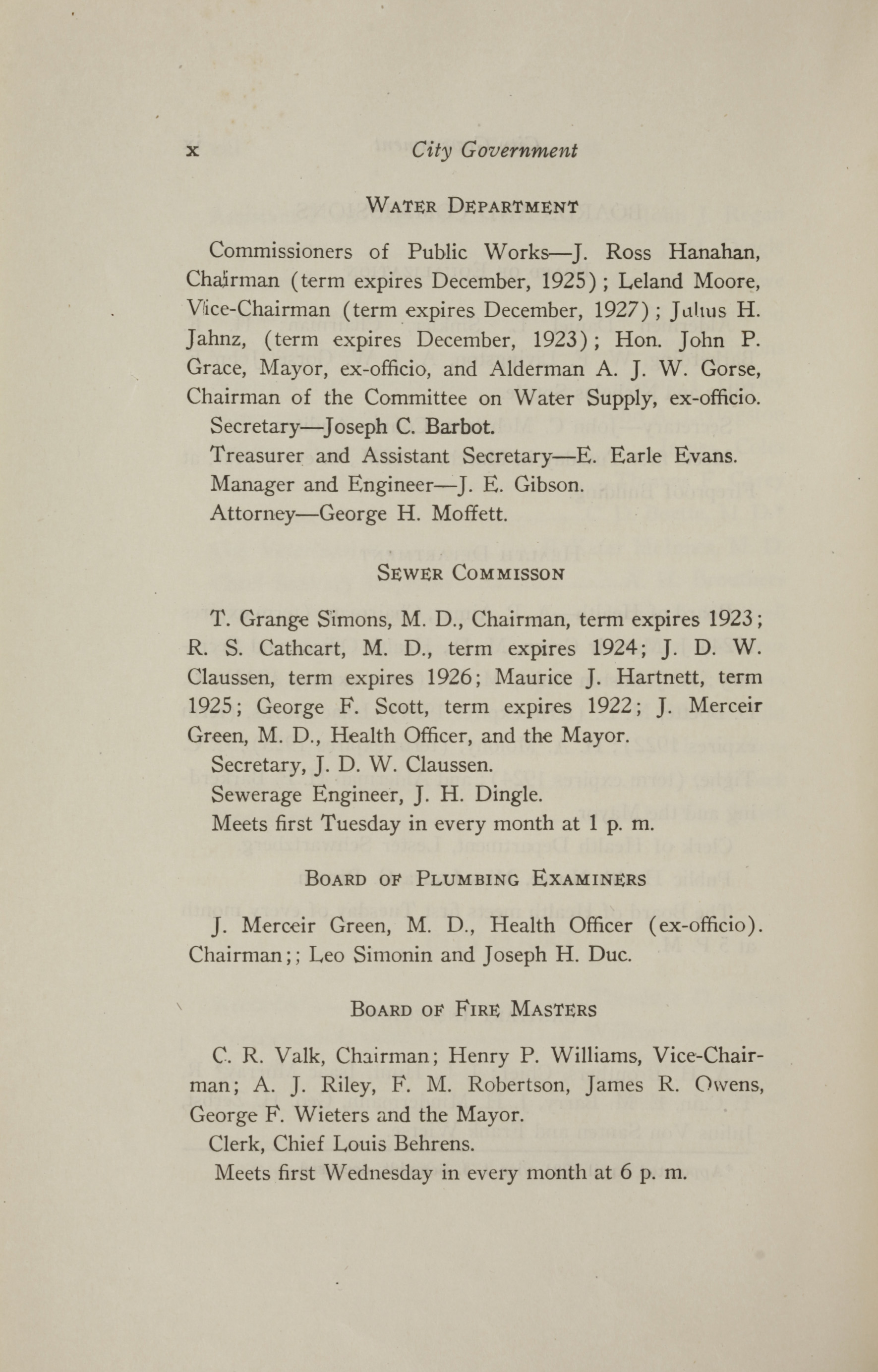 Charleston Yearbook, 1921, page x