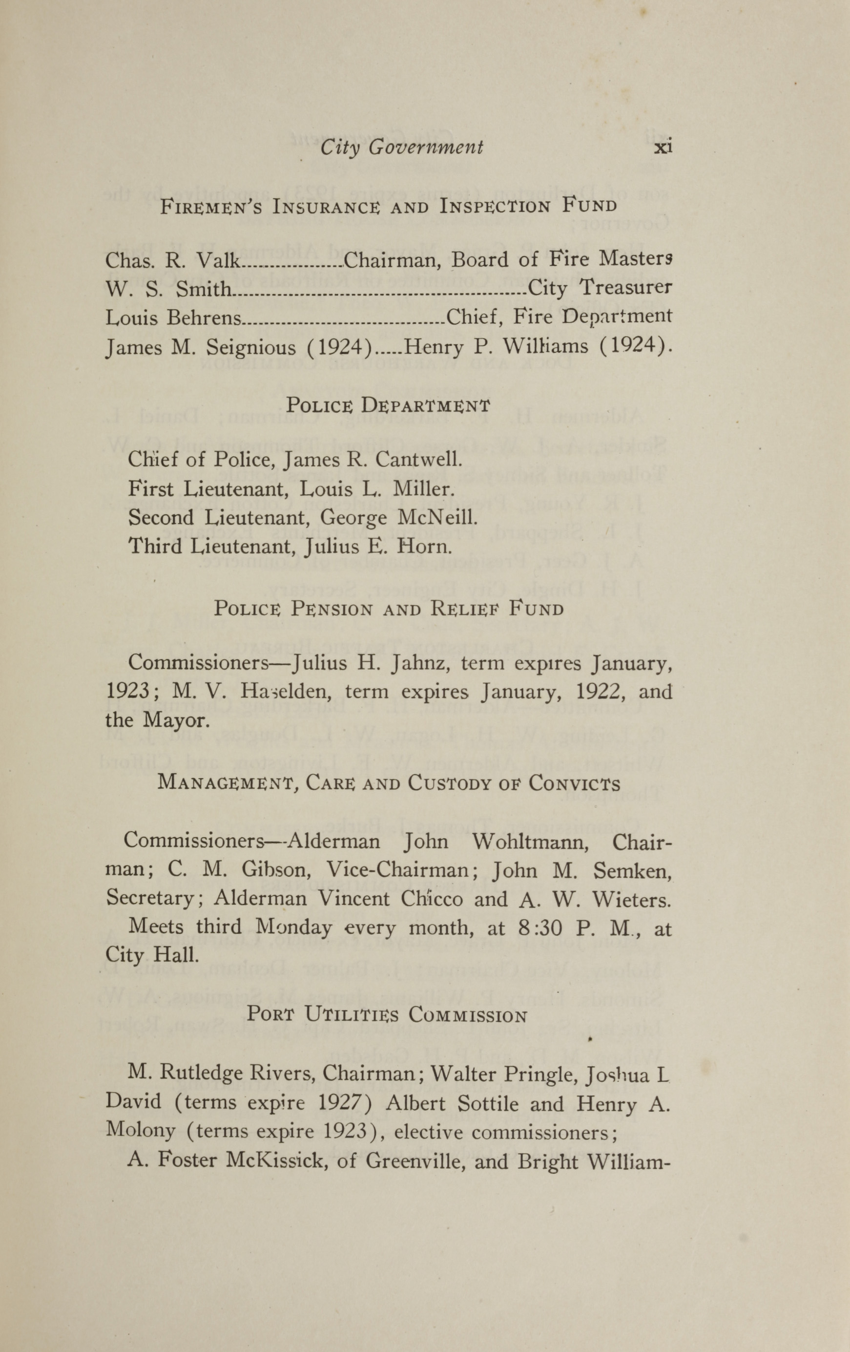 Charleston Yearbook, 1921, page xi