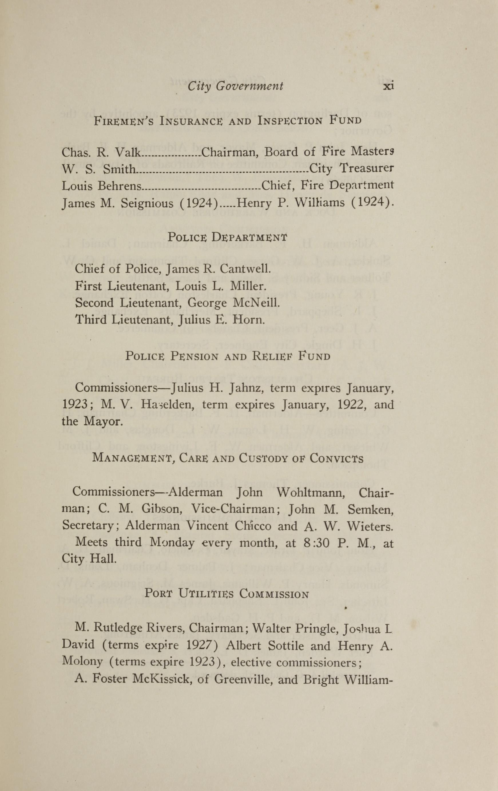 Charleston Yearbook, 1921, page xi