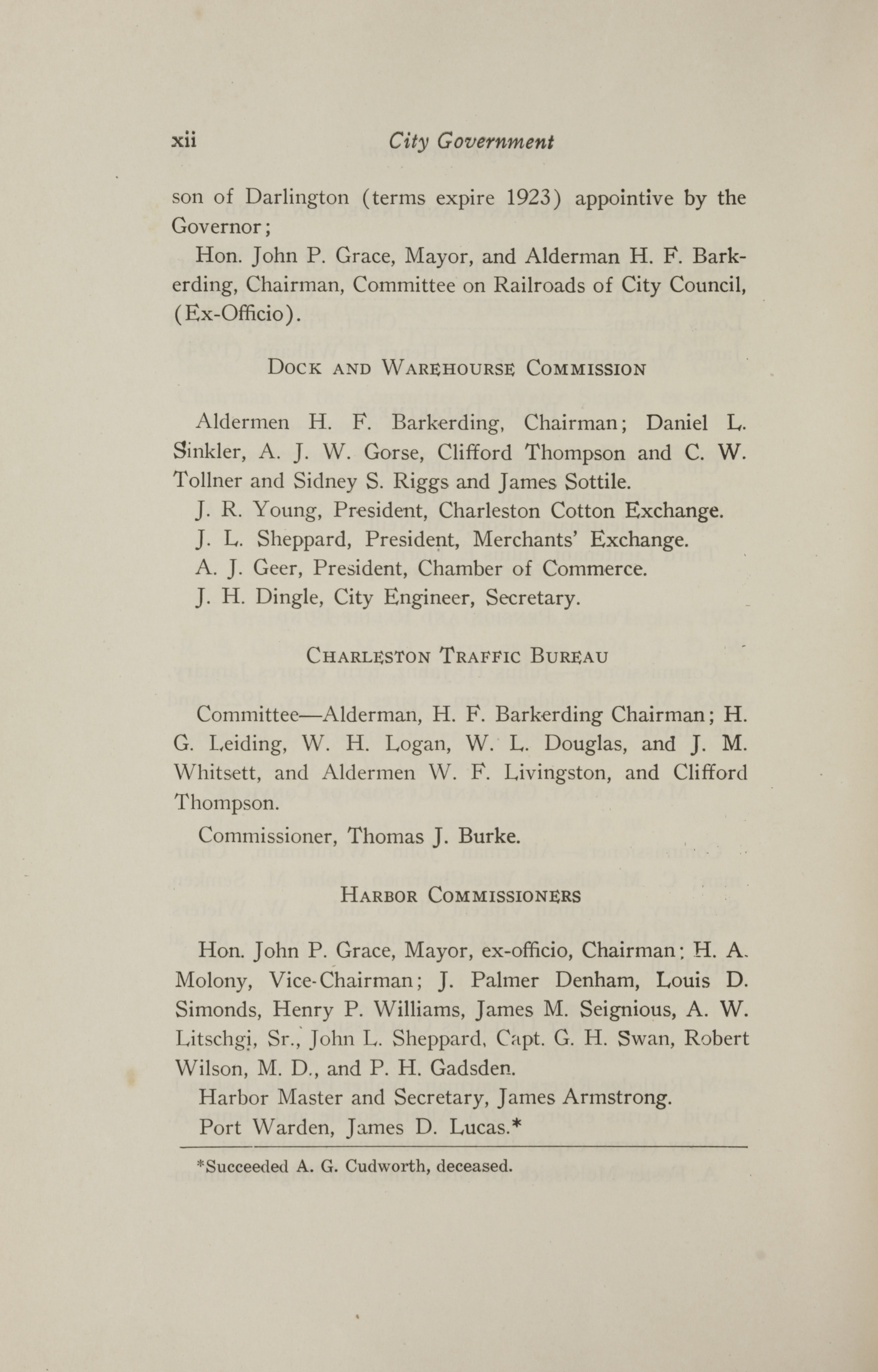 Charleston Yearbook, 1921, page xii