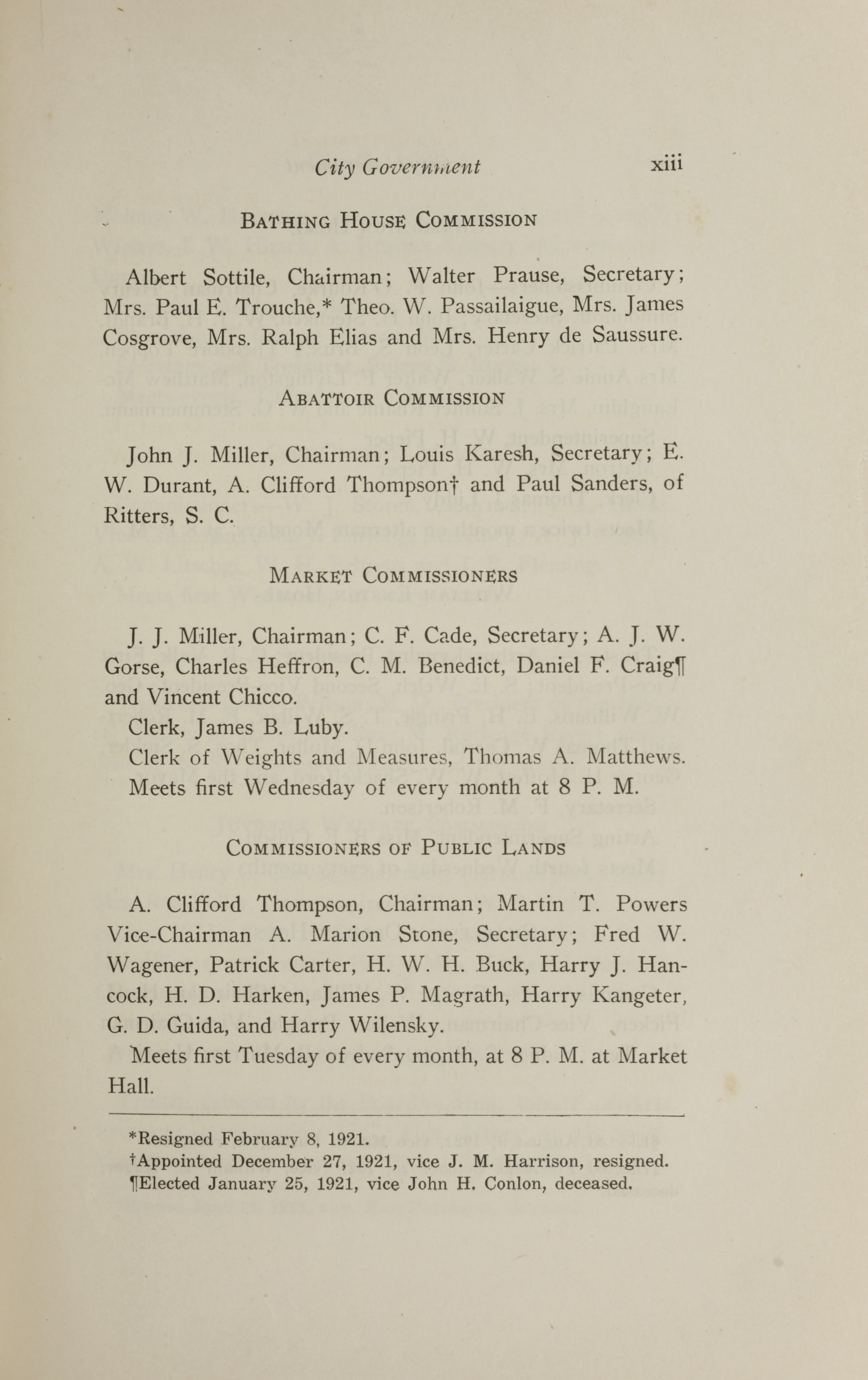 Charleston Yearbook, 1921, page xiii