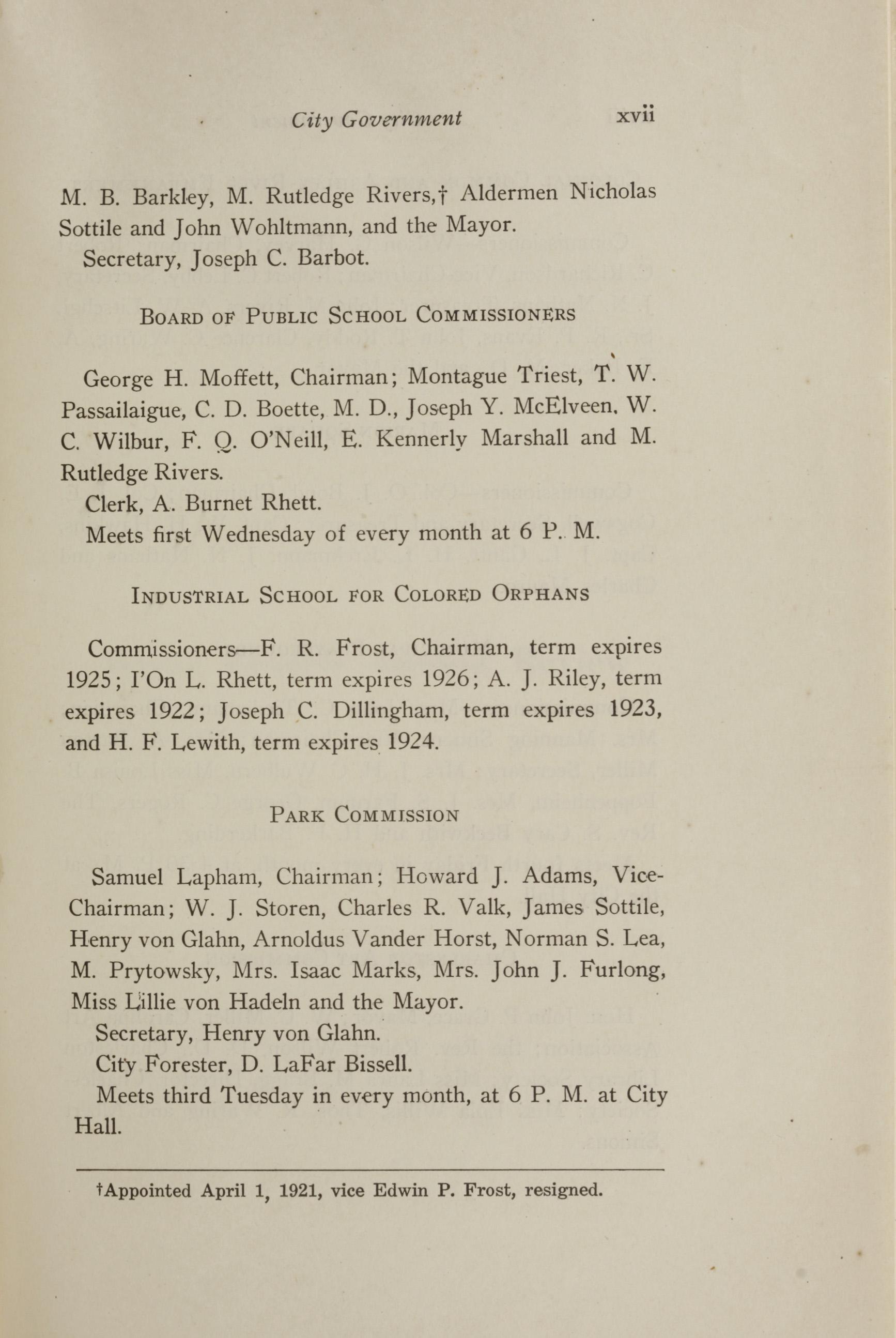 Charleston Yearbook, 1921, page xvii