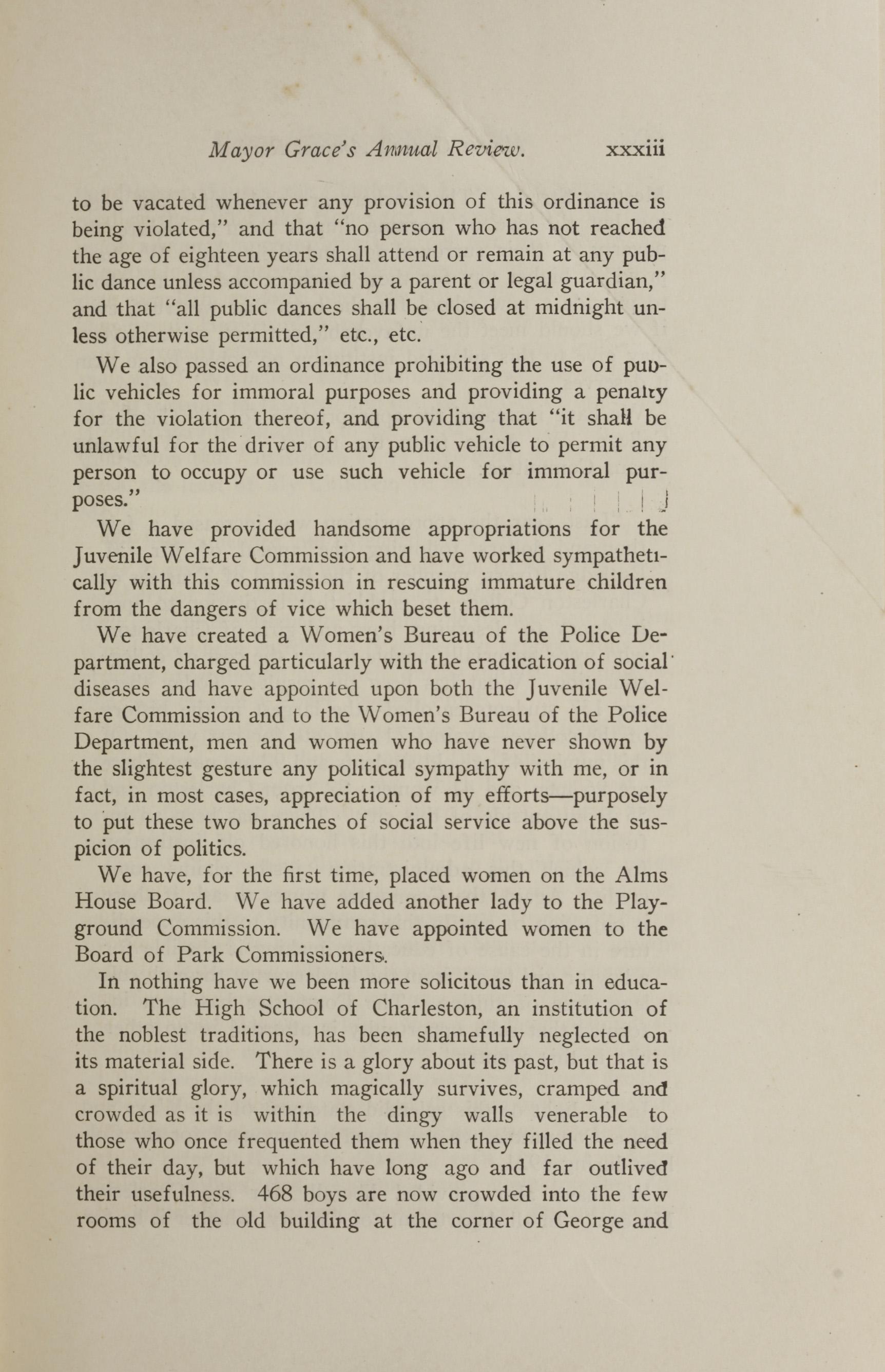 Charleston Yearbook, 1921, page xxxiii
