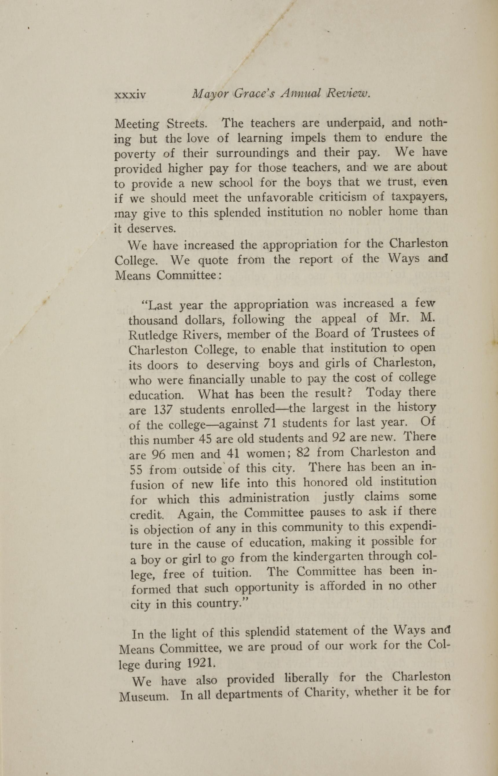 Charleston Yearbook, 1921, page xxxiv