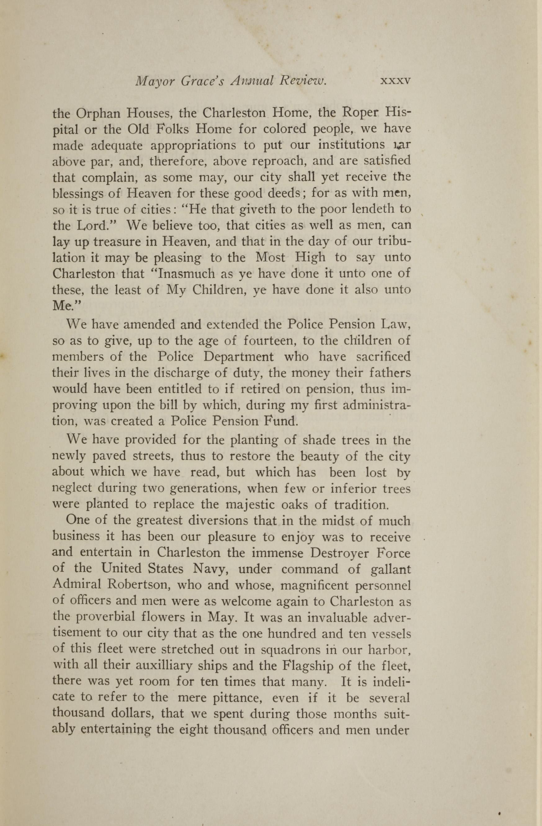 Charleston Yearbook, 1921, page xxxv