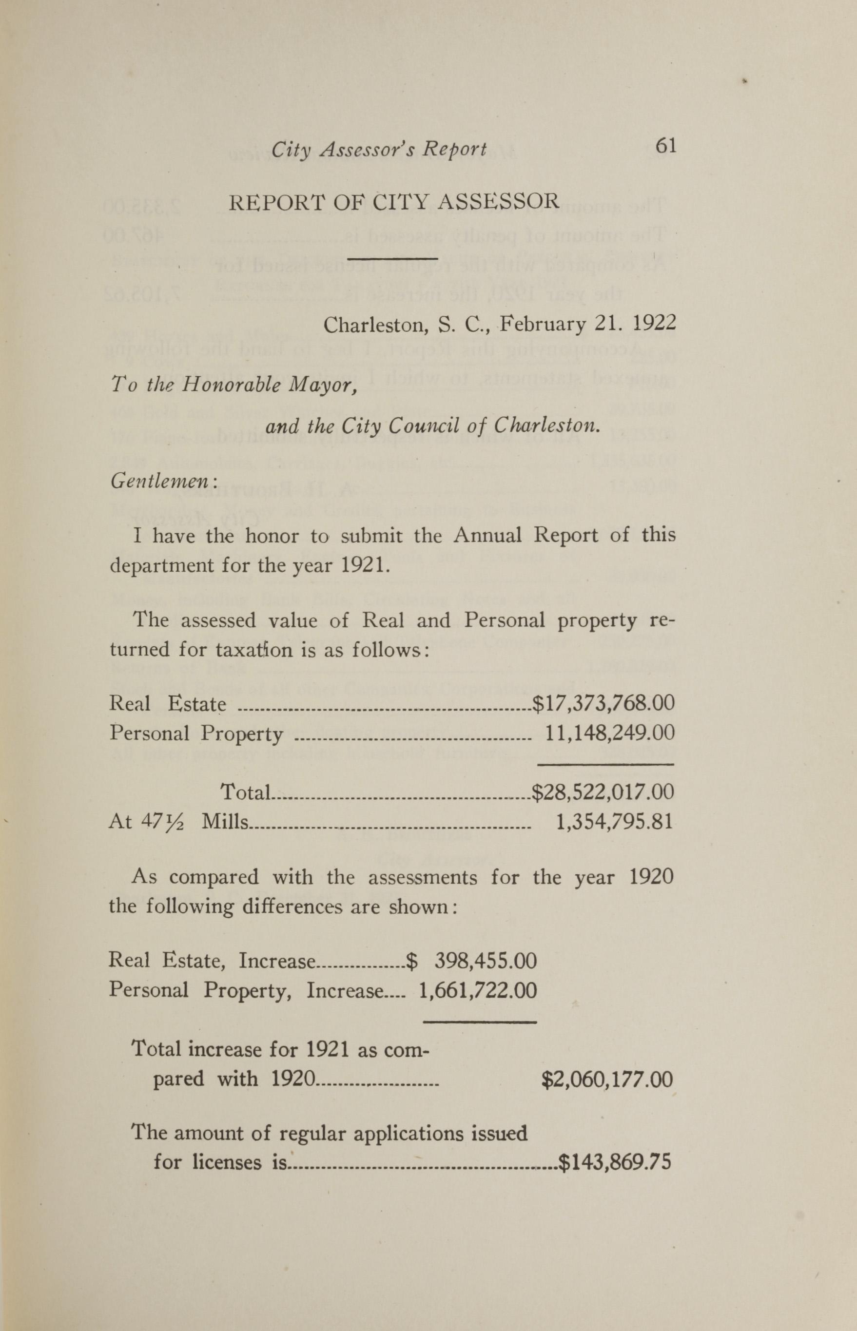 Charleston Yearbook, 1921, page 61