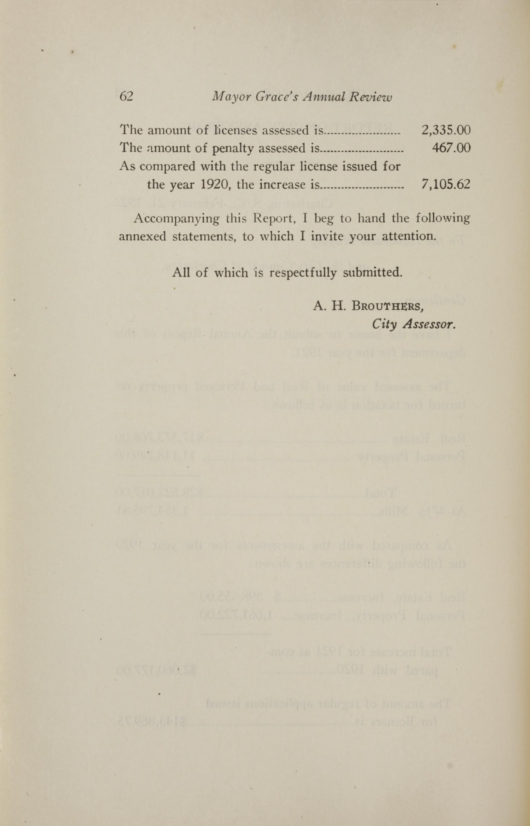 Charleston Yearbook, 1921, page 62