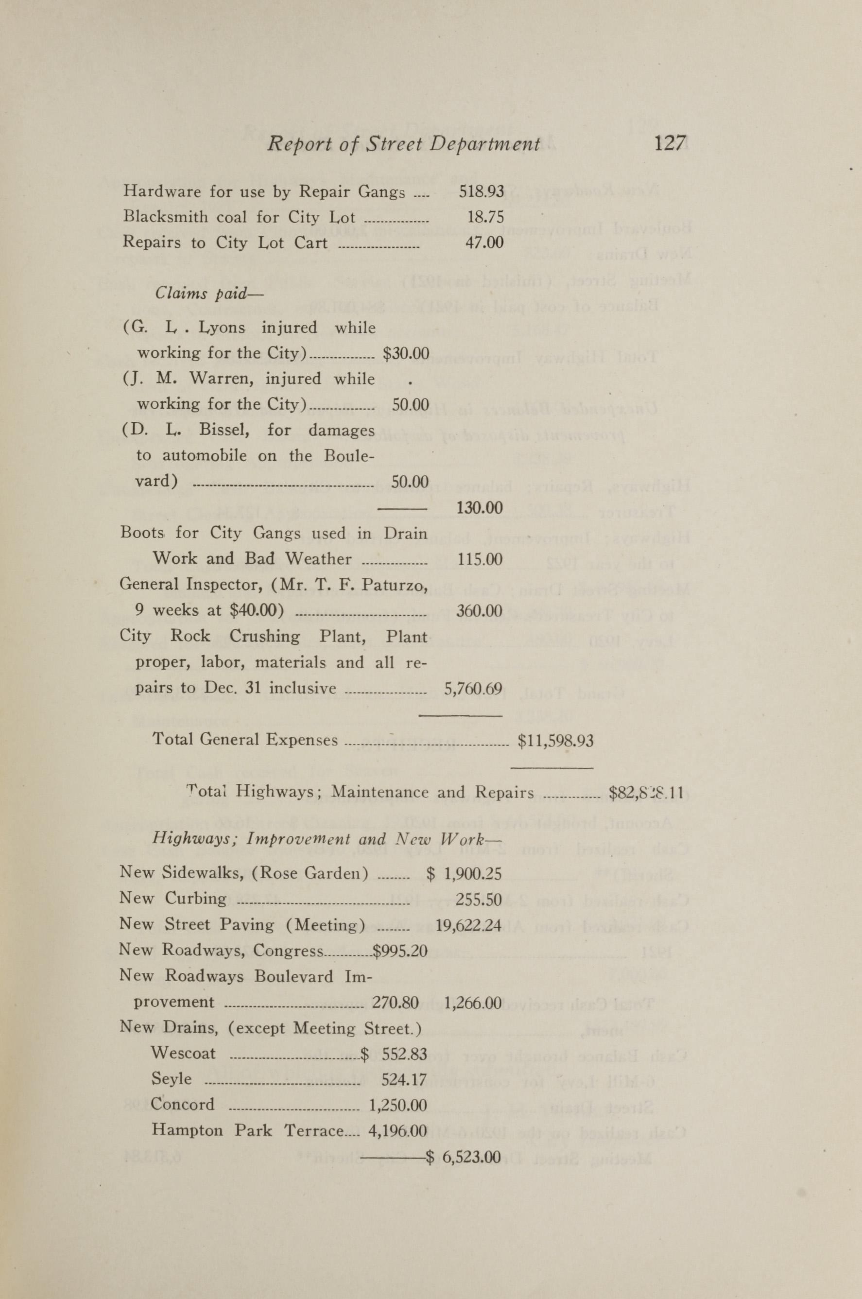 Charleston Yearbook, 1921, page 127