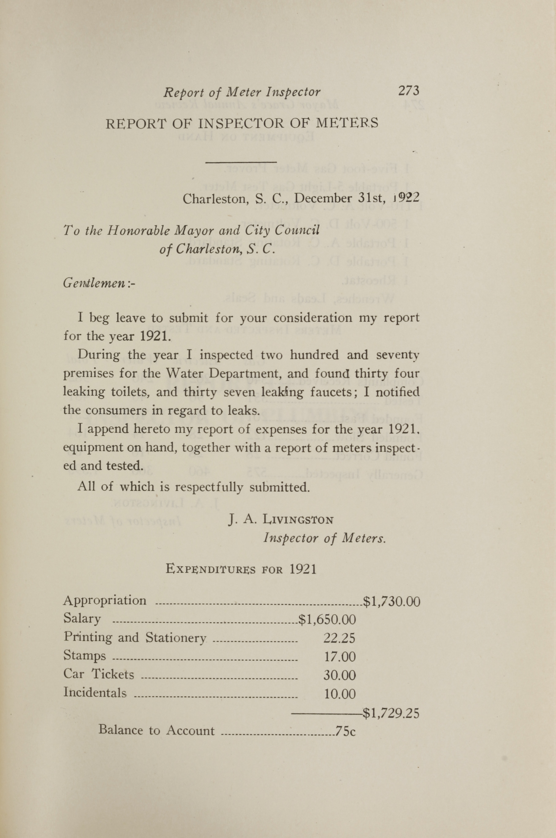 Charleston Yearbook, 1921, page 273