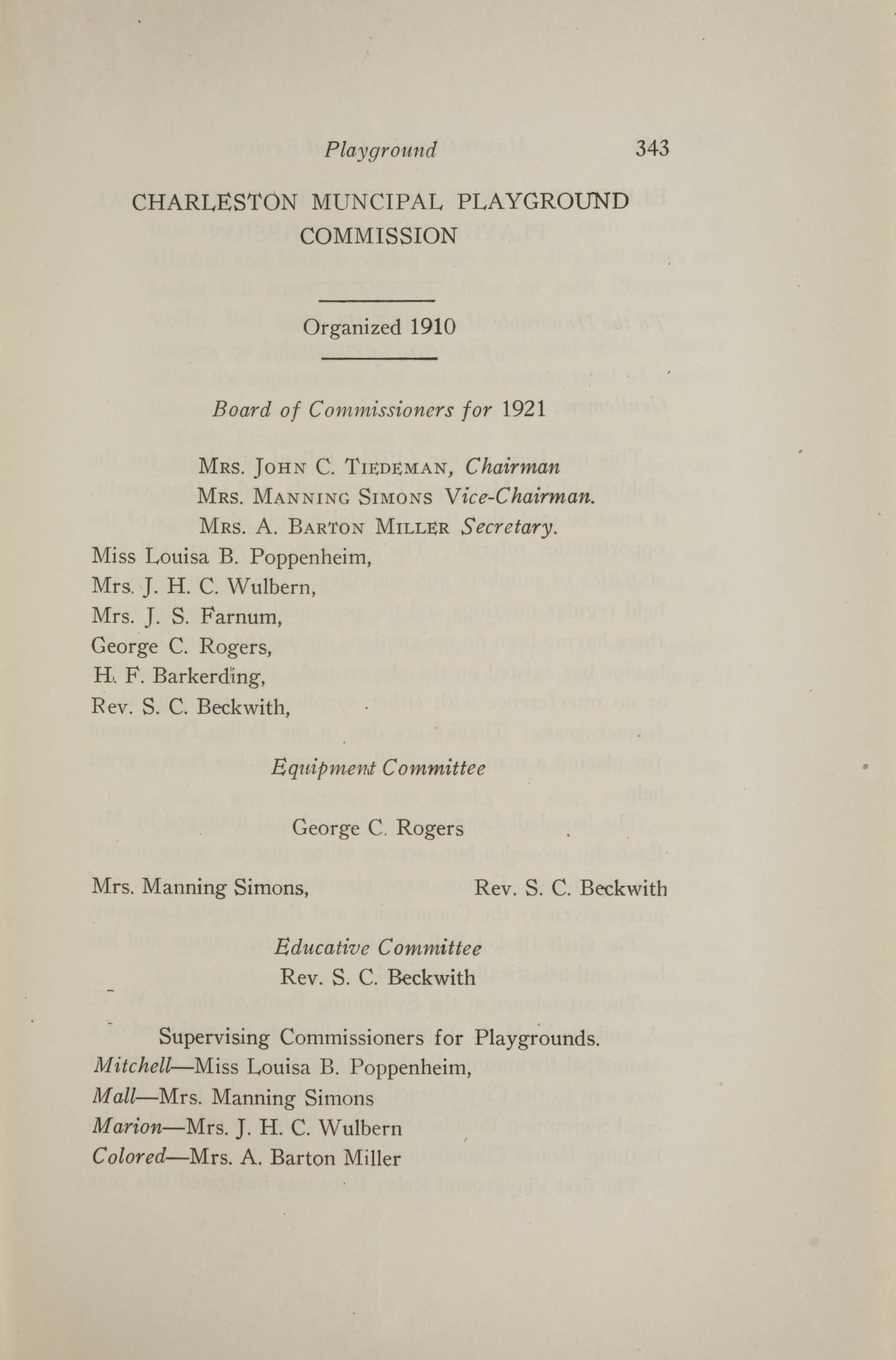 Charleston Yearbook, 1921, page 343