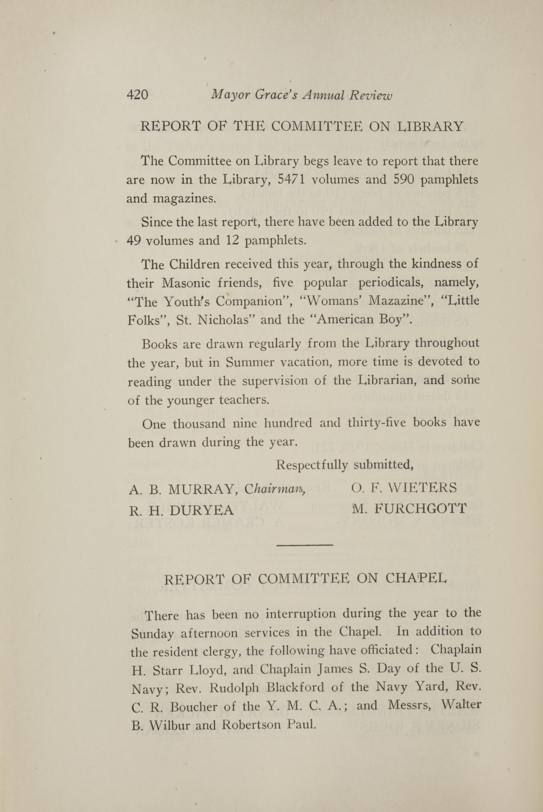 Charleston Yearbook, 1921, page 420