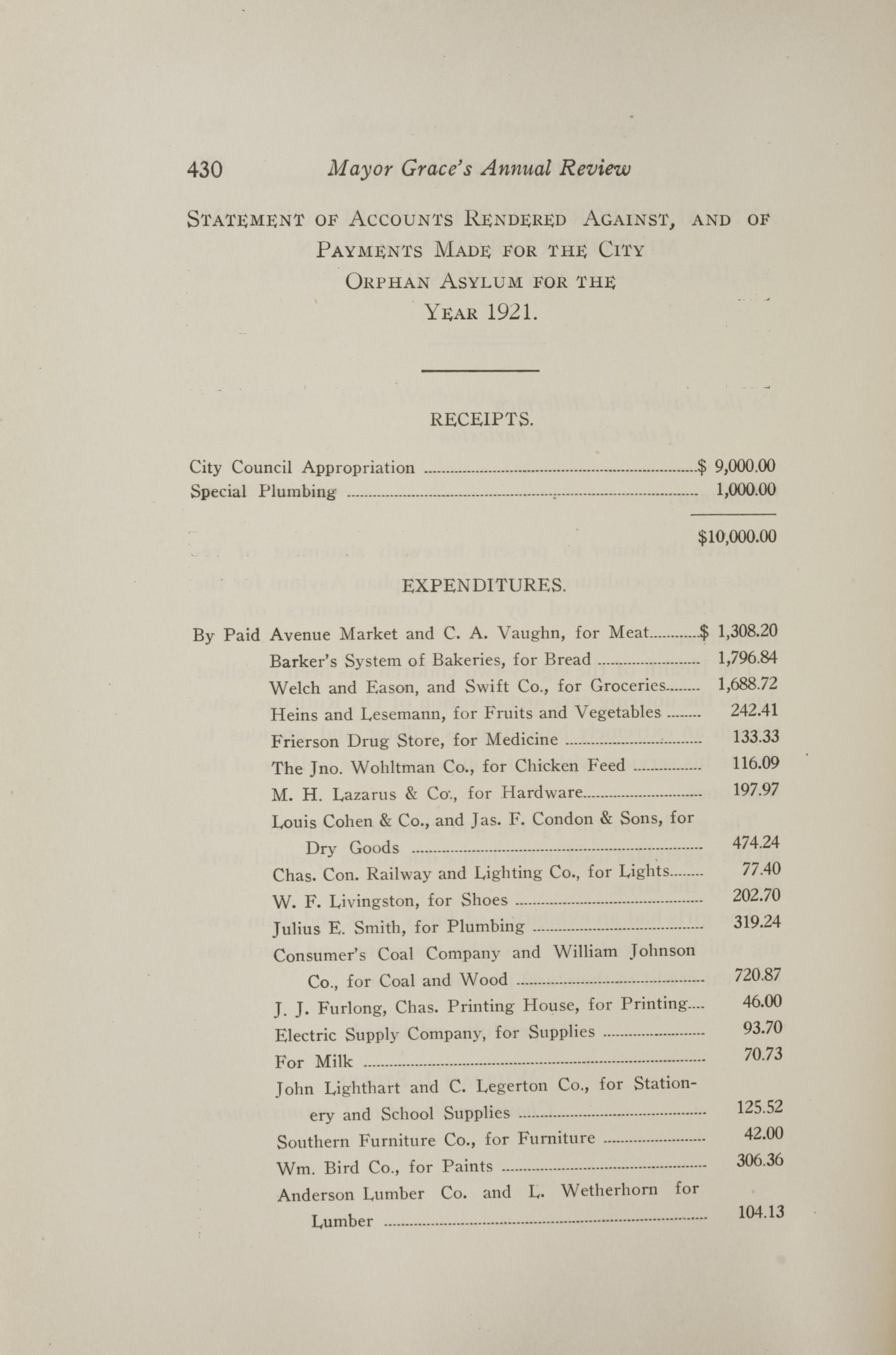 Charleston Yearbook, 1921, page 430