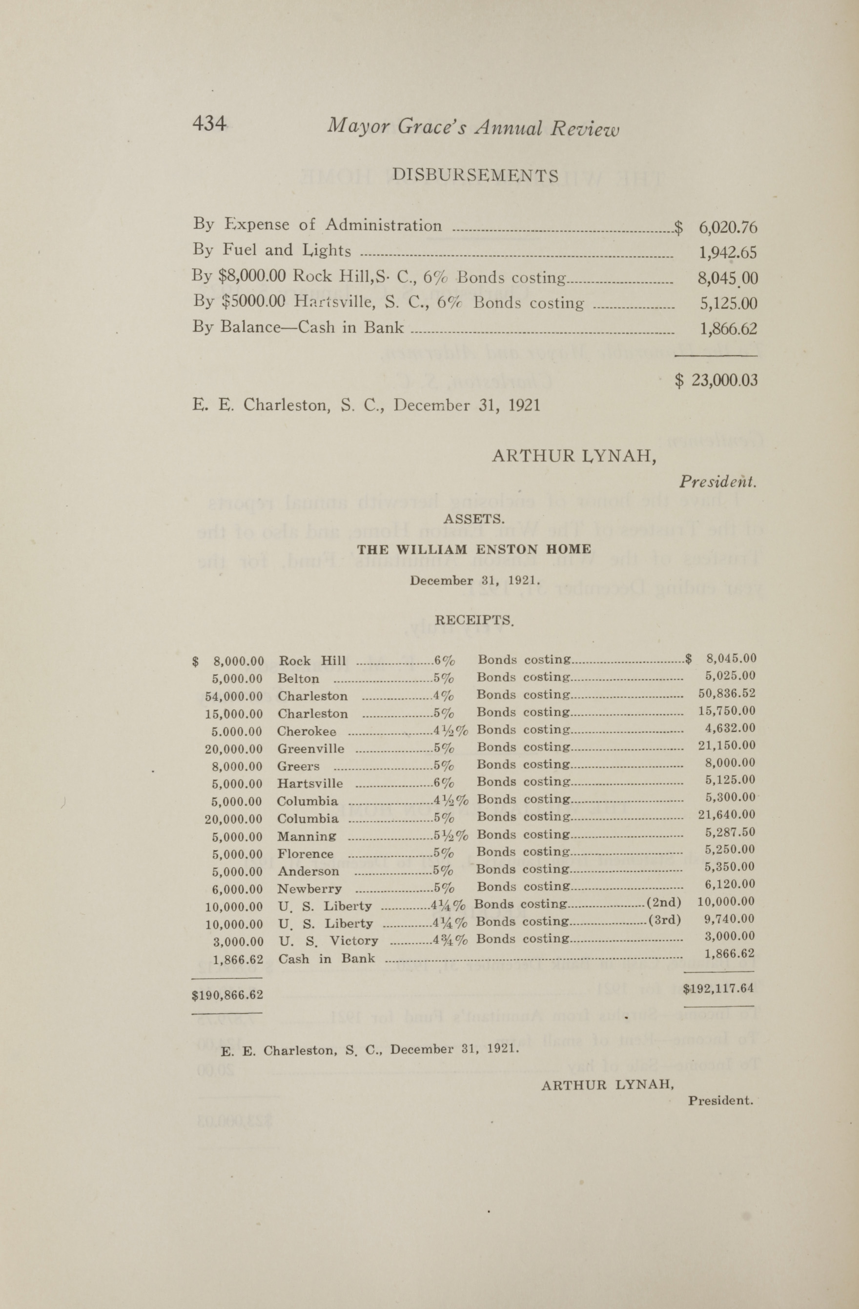 Charleston Yearbook, 1921, page 434