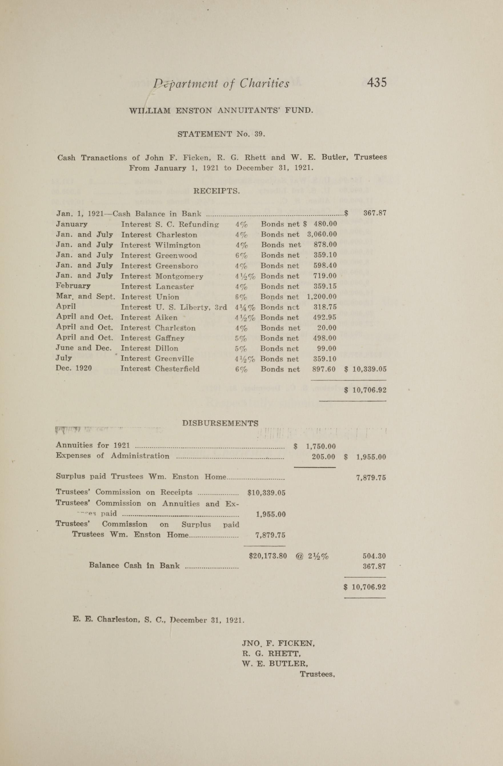 Charleston Yearbook, 1921, page 435