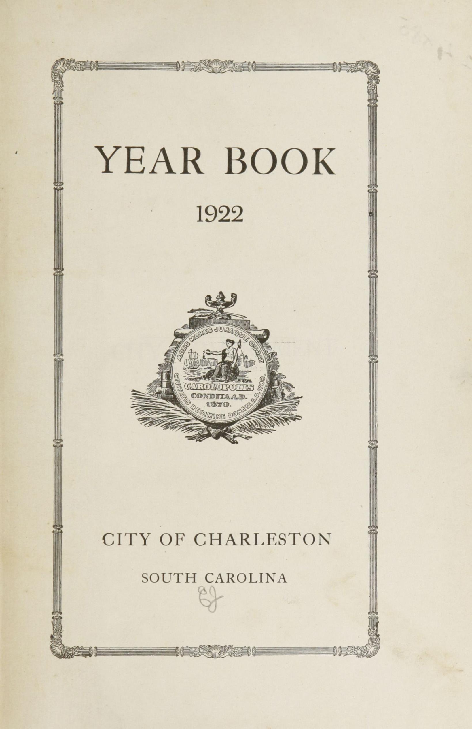 Charleston Yearbook, 1922, page i