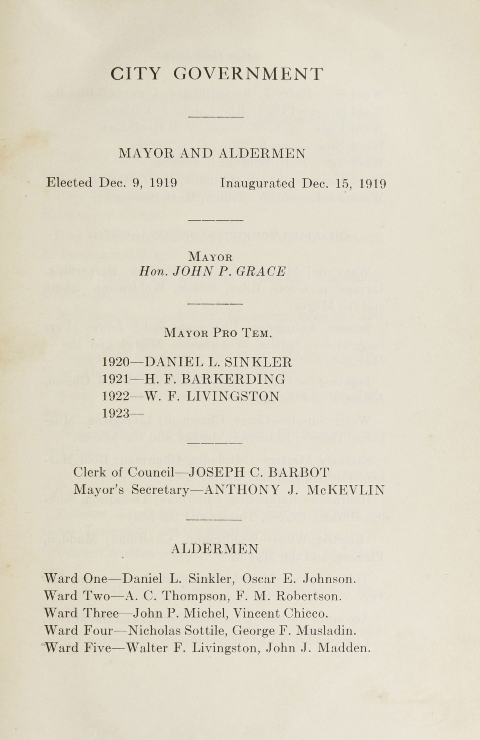 Charleston Yearbook, 1922, page v