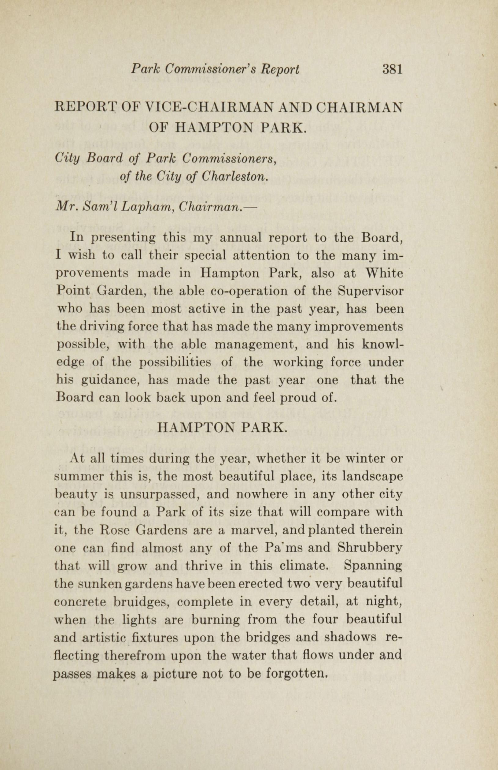 Charleston Yearbook, 1922, page 381