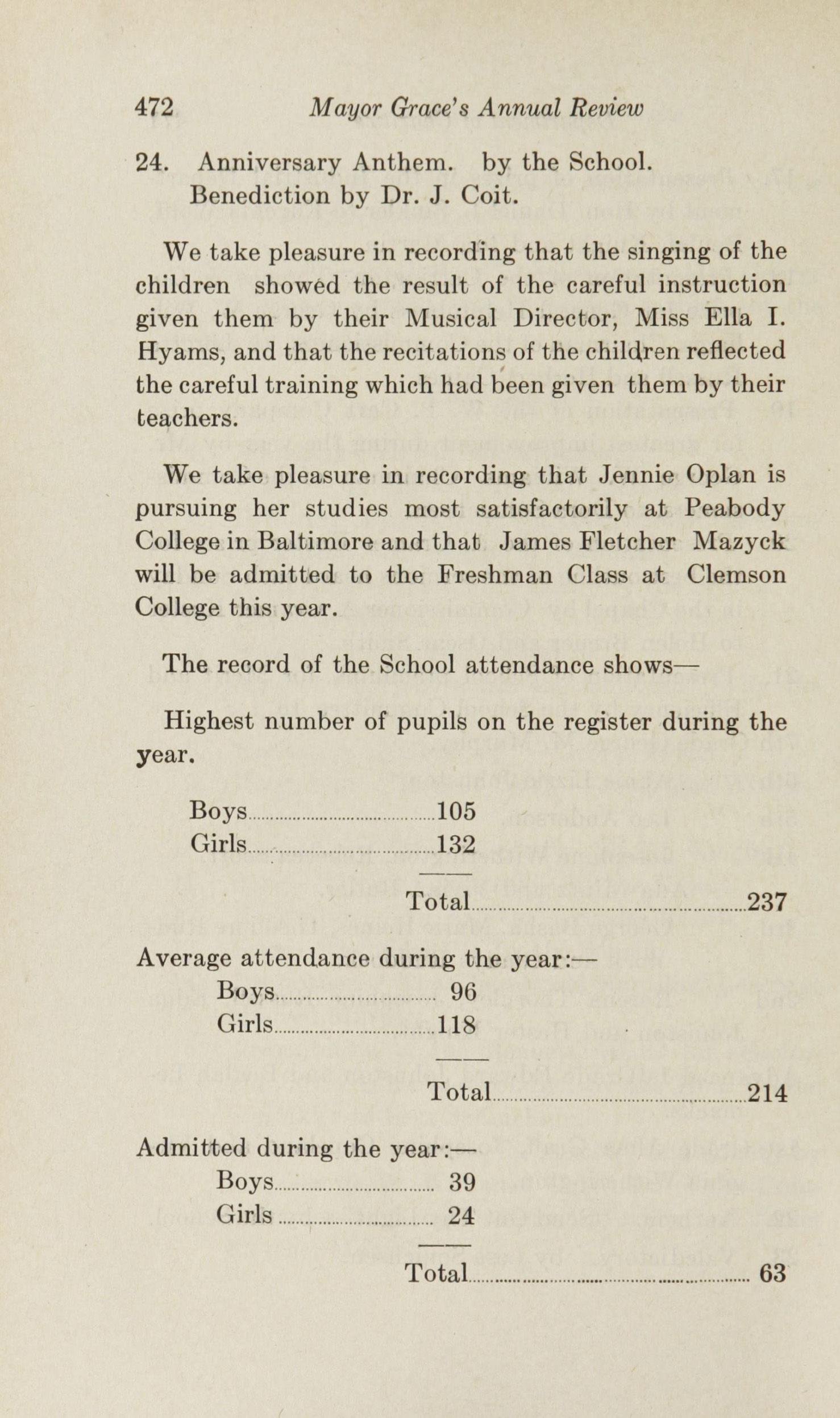 Charleston Yearbook, 1922, page 472