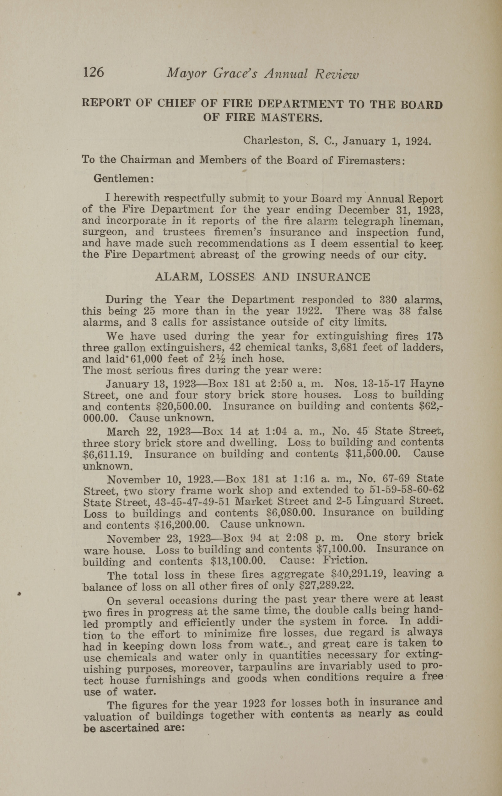 Charleston Yearbook, 1923, page 126