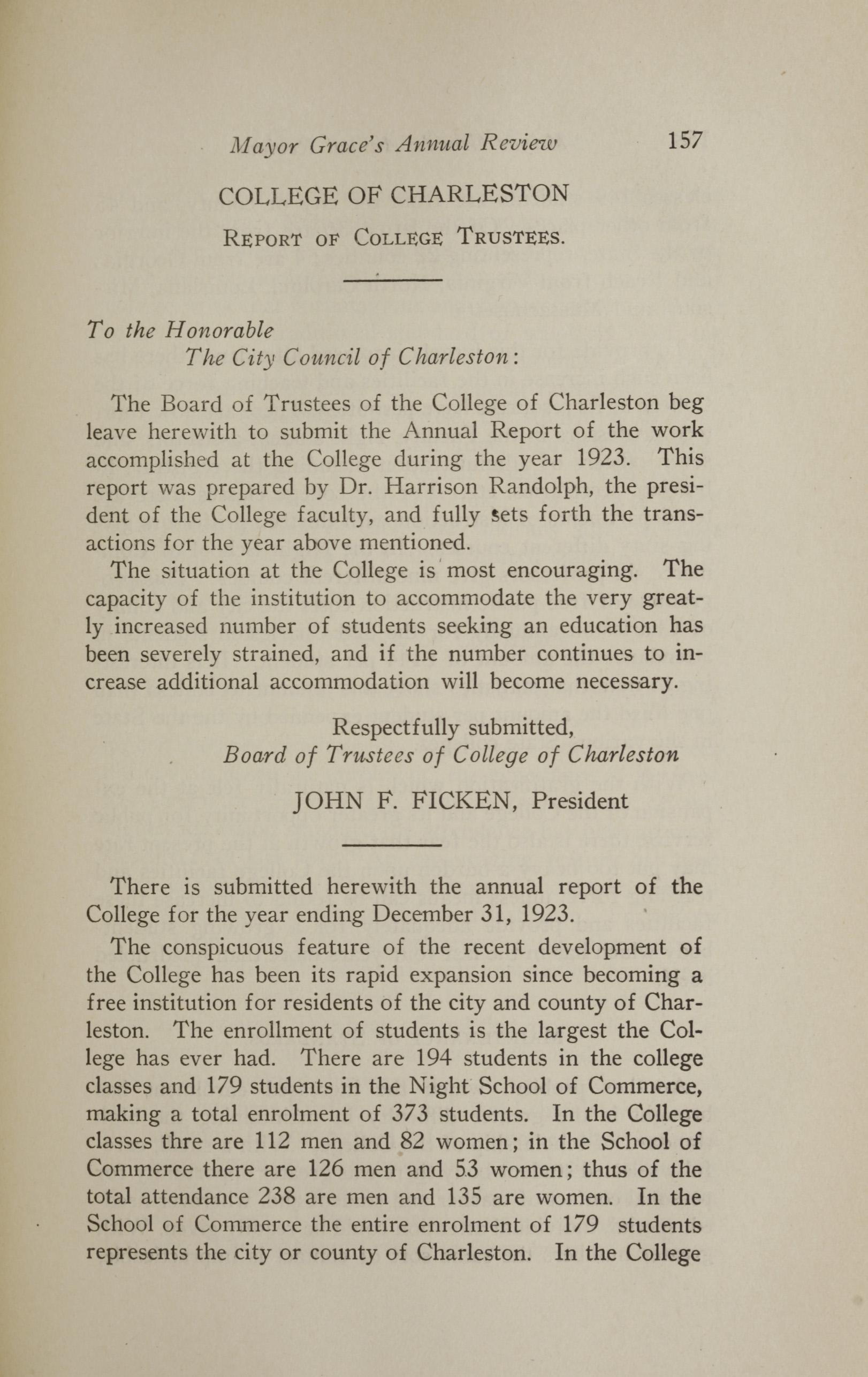 Charleston Yearbook, 1923, page 157