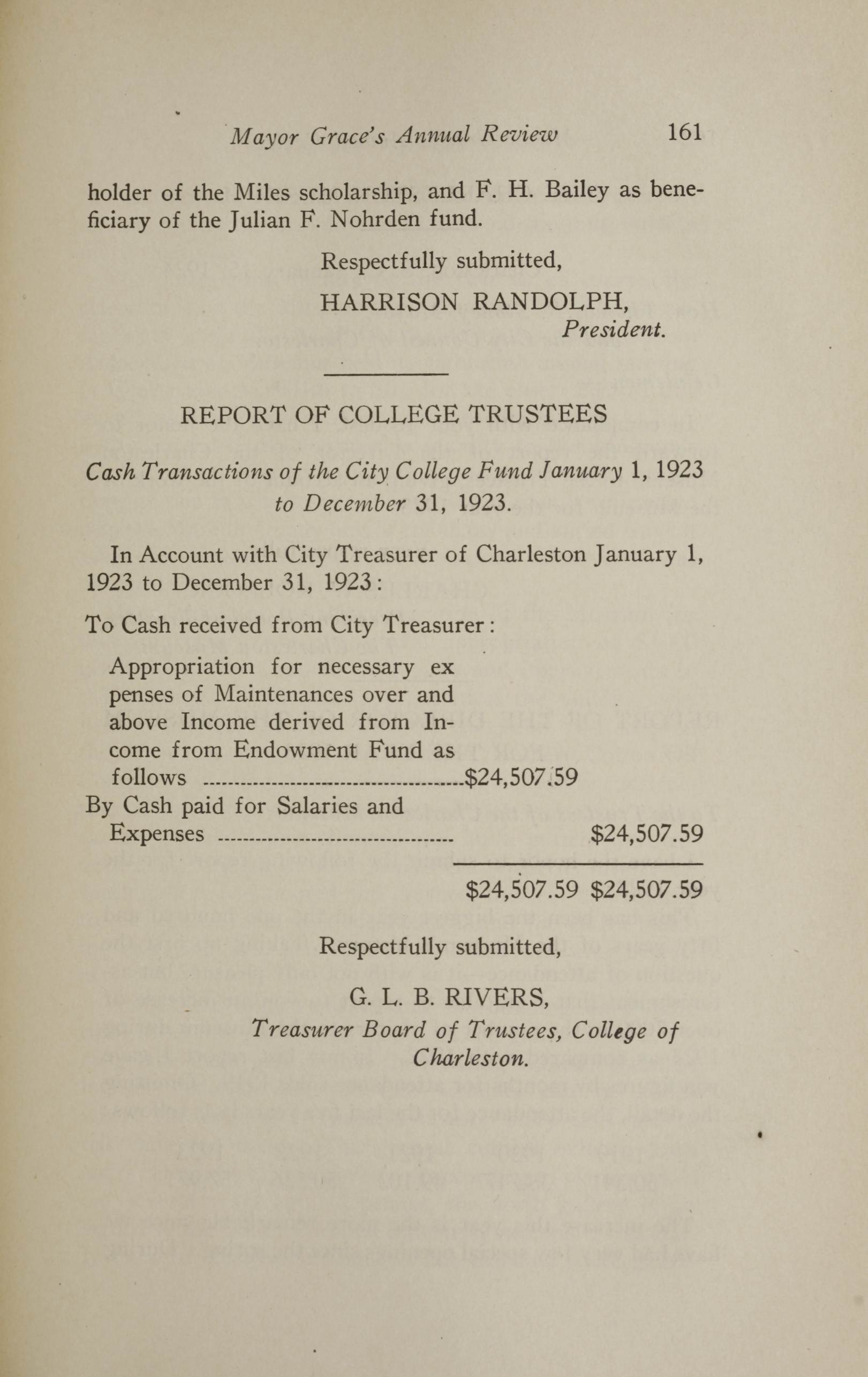 Charleston Yearbook, 1923, page 161