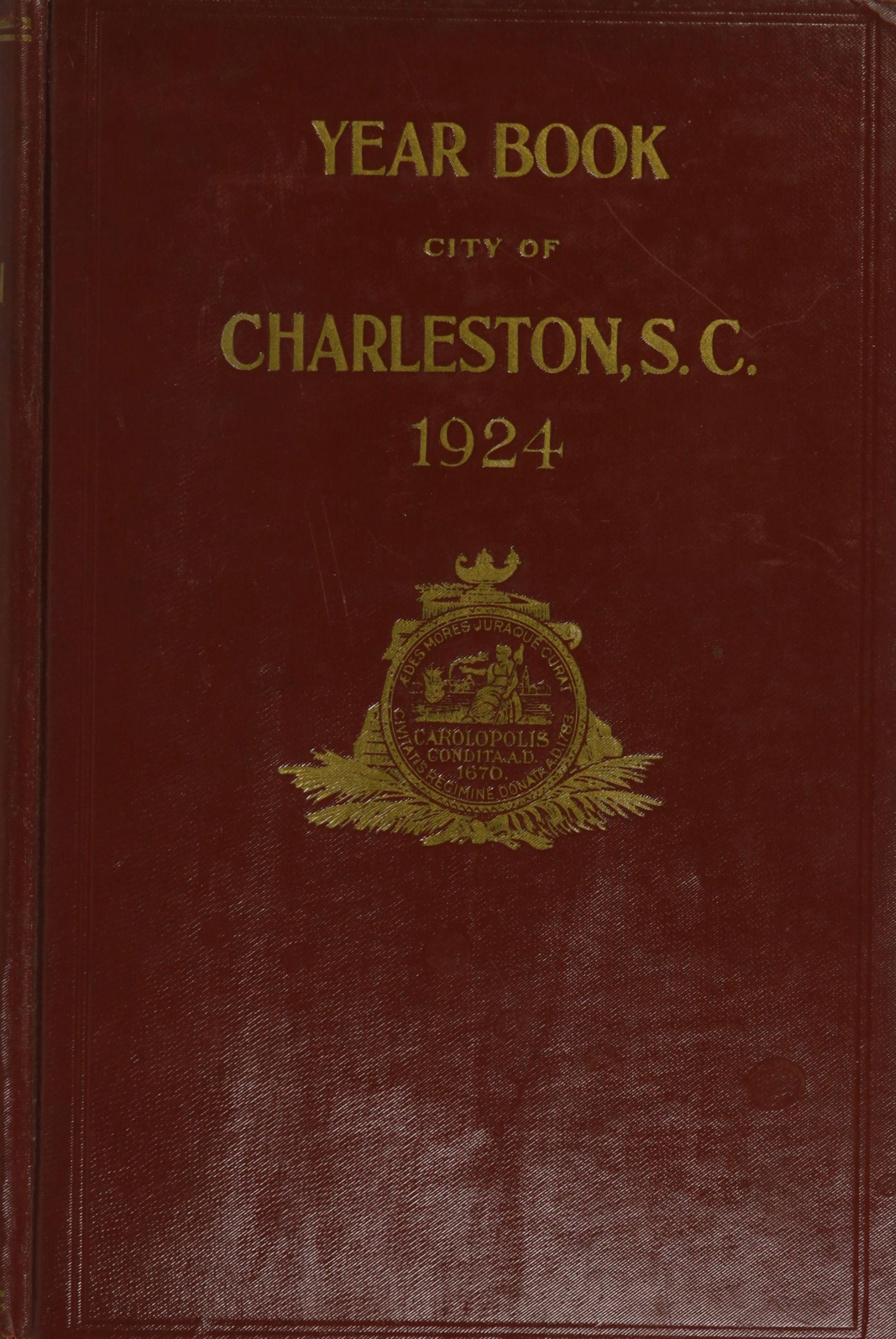 Charleston Yearbook, 1924, cover