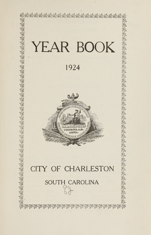 Charleston Yearbook, 1924, page i