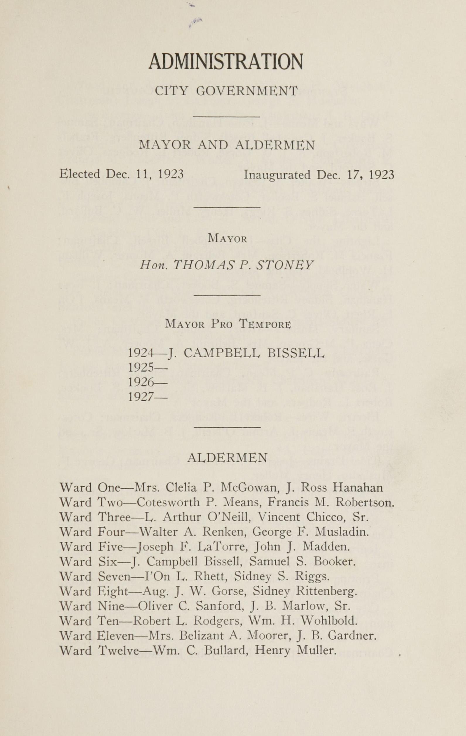 Charleston Yearbook, 1924, page iii
