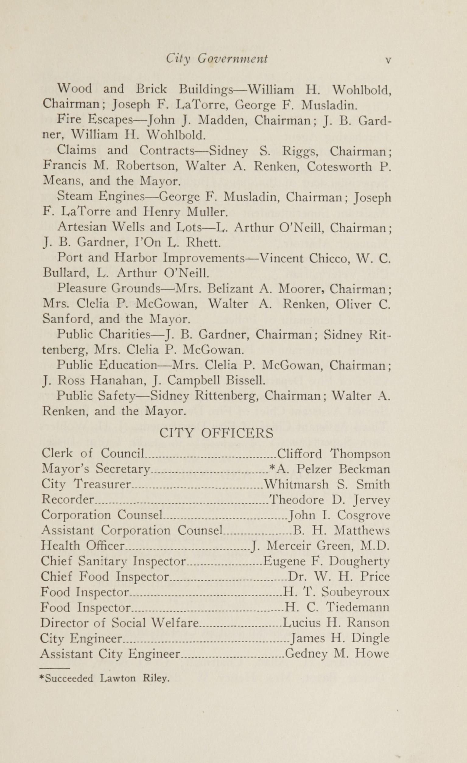 Charleston Yearbook, 1924, page v