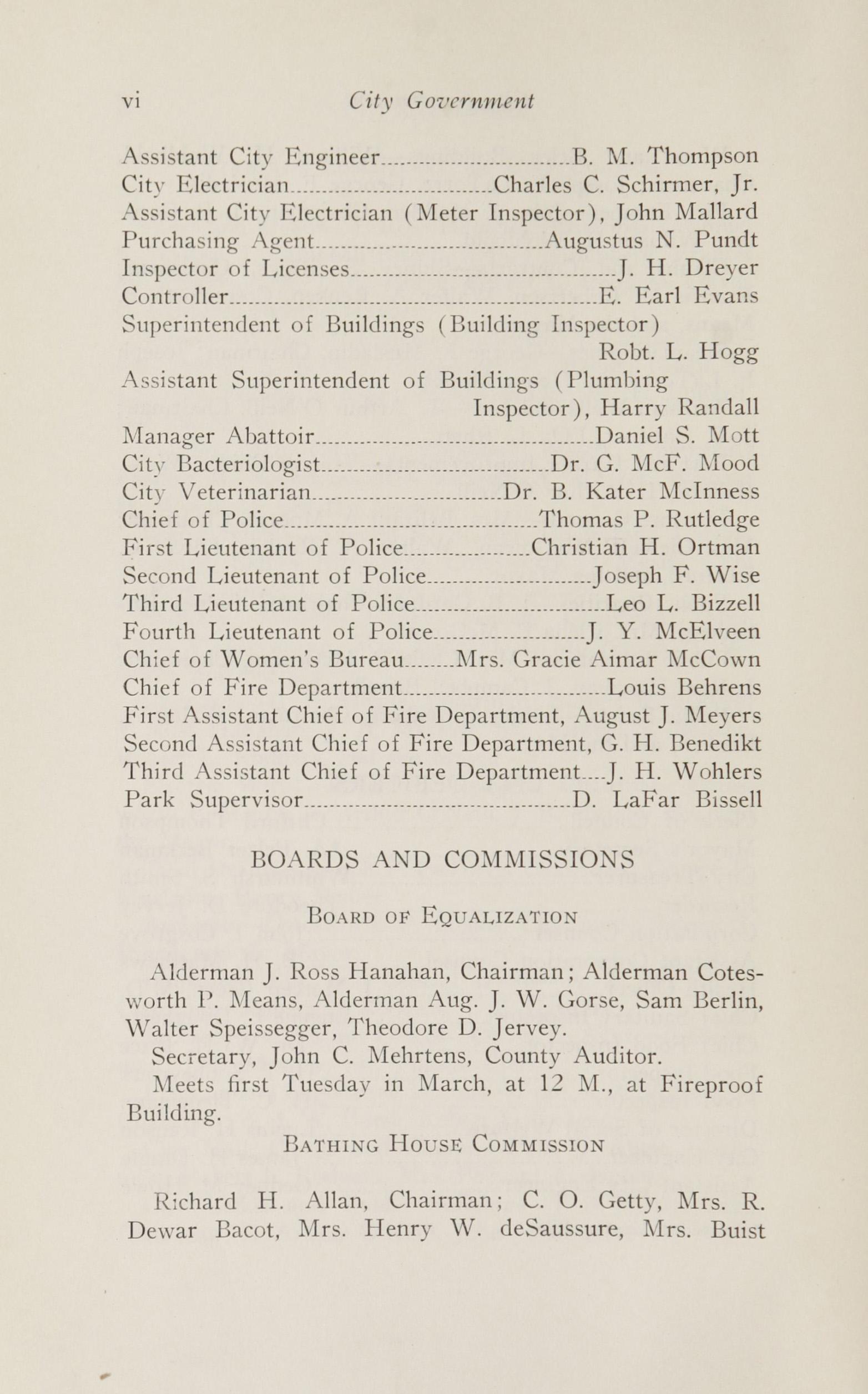 Charleston Yearbook, 1924, page vi