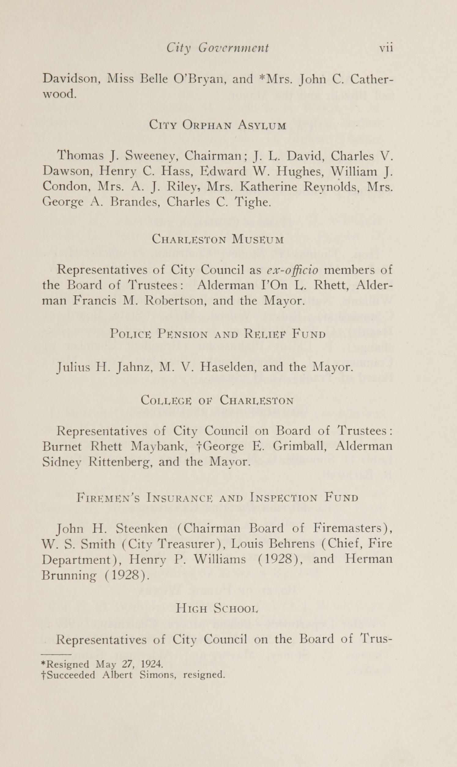 Charleston Yearbook, 1924, page vii