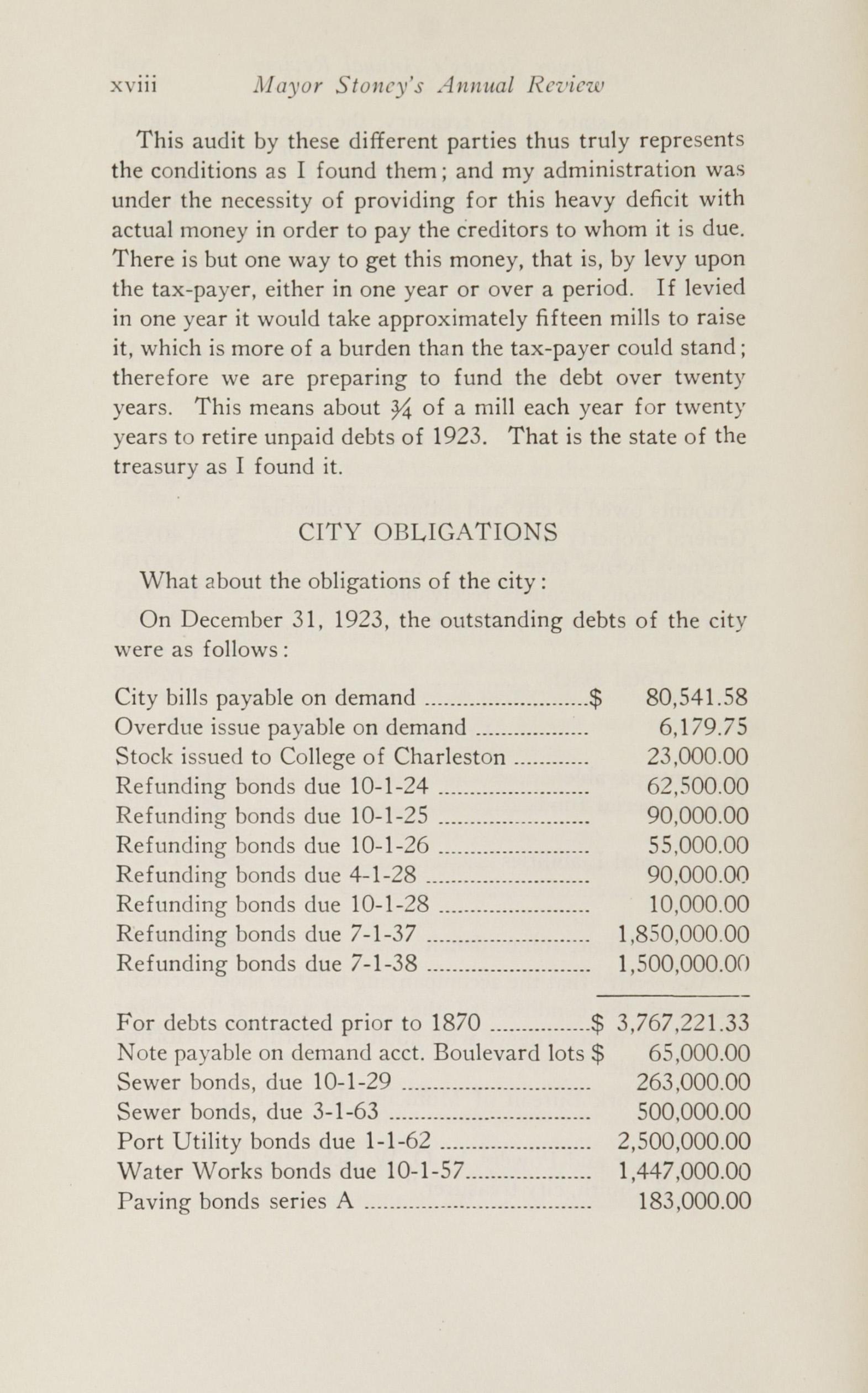 Charleston Yearbook, 1924, page xviii