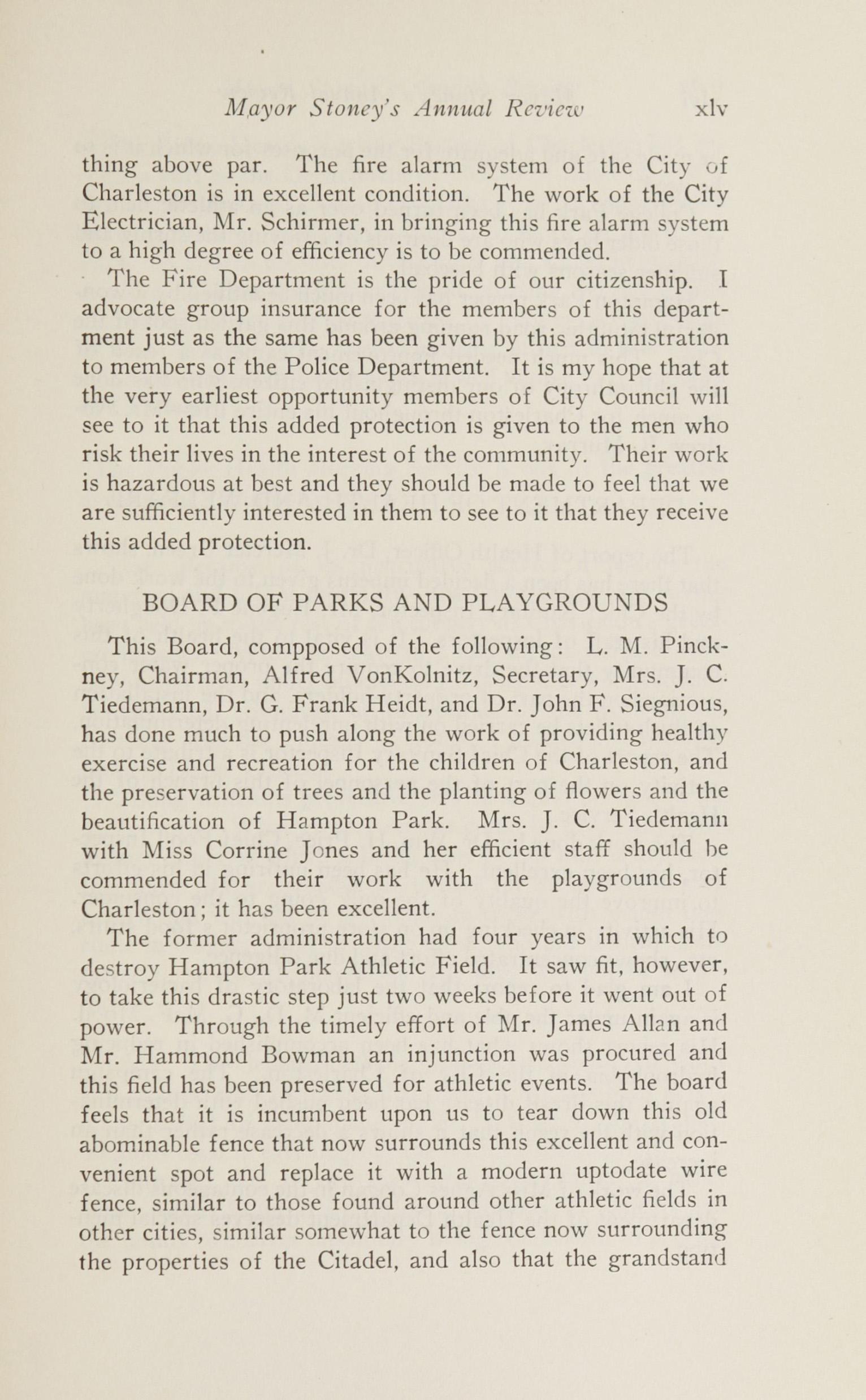 Charleston Yearbook, 1924, page xlv