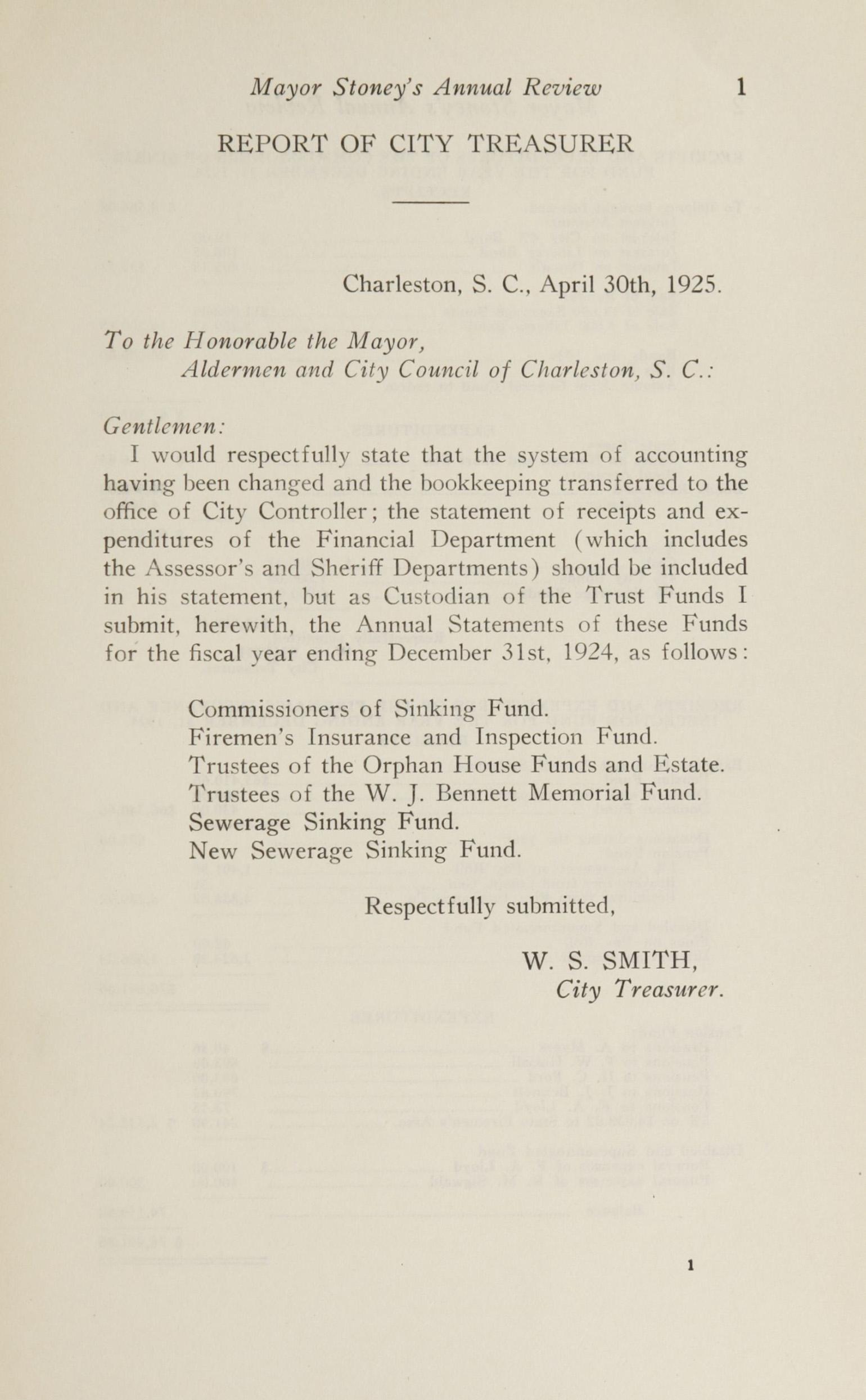 Charleston Yearbook, 1924, page 1