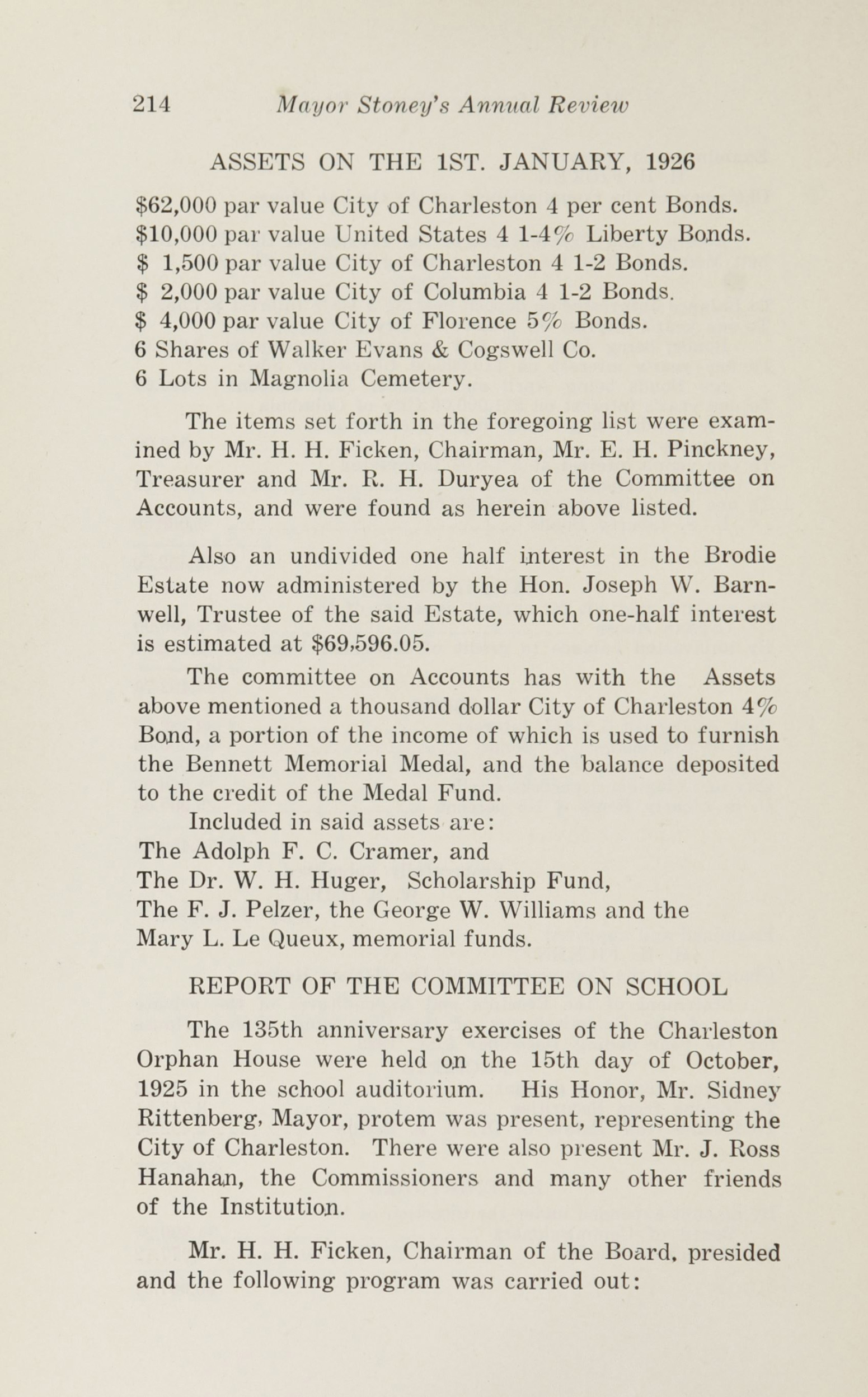 Charleston Yearbook, 1925, page 214