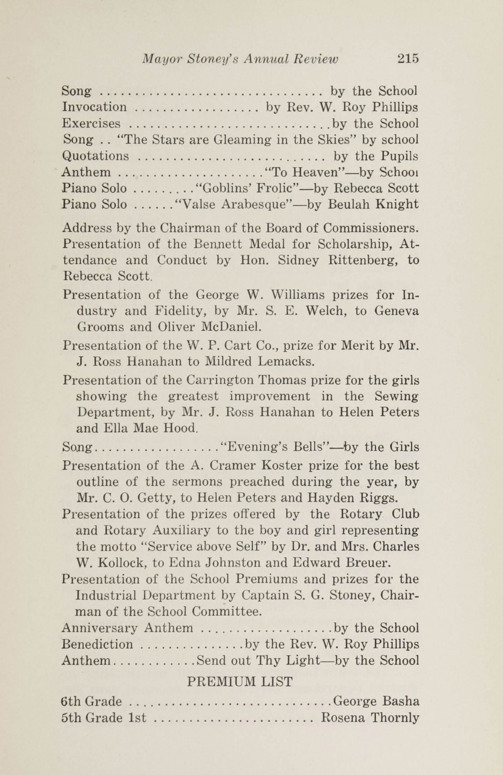 Charleston Yearbook, 1925, page 215