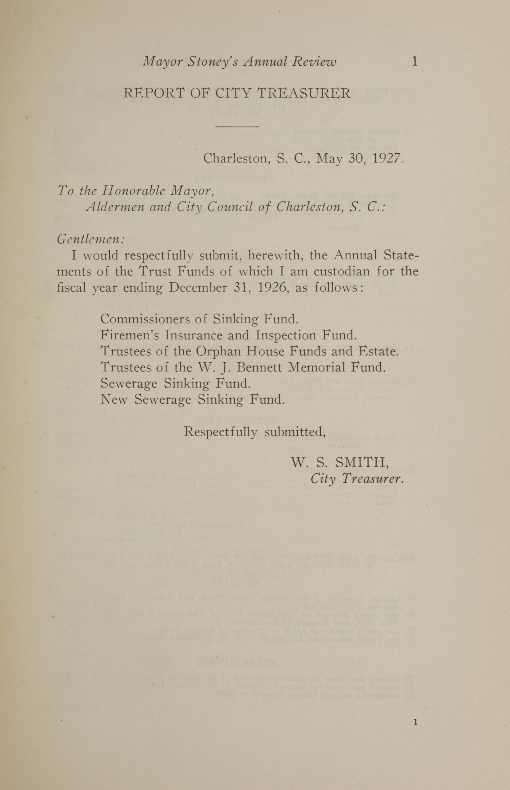 Charleston Yearbook, 1926, page 1