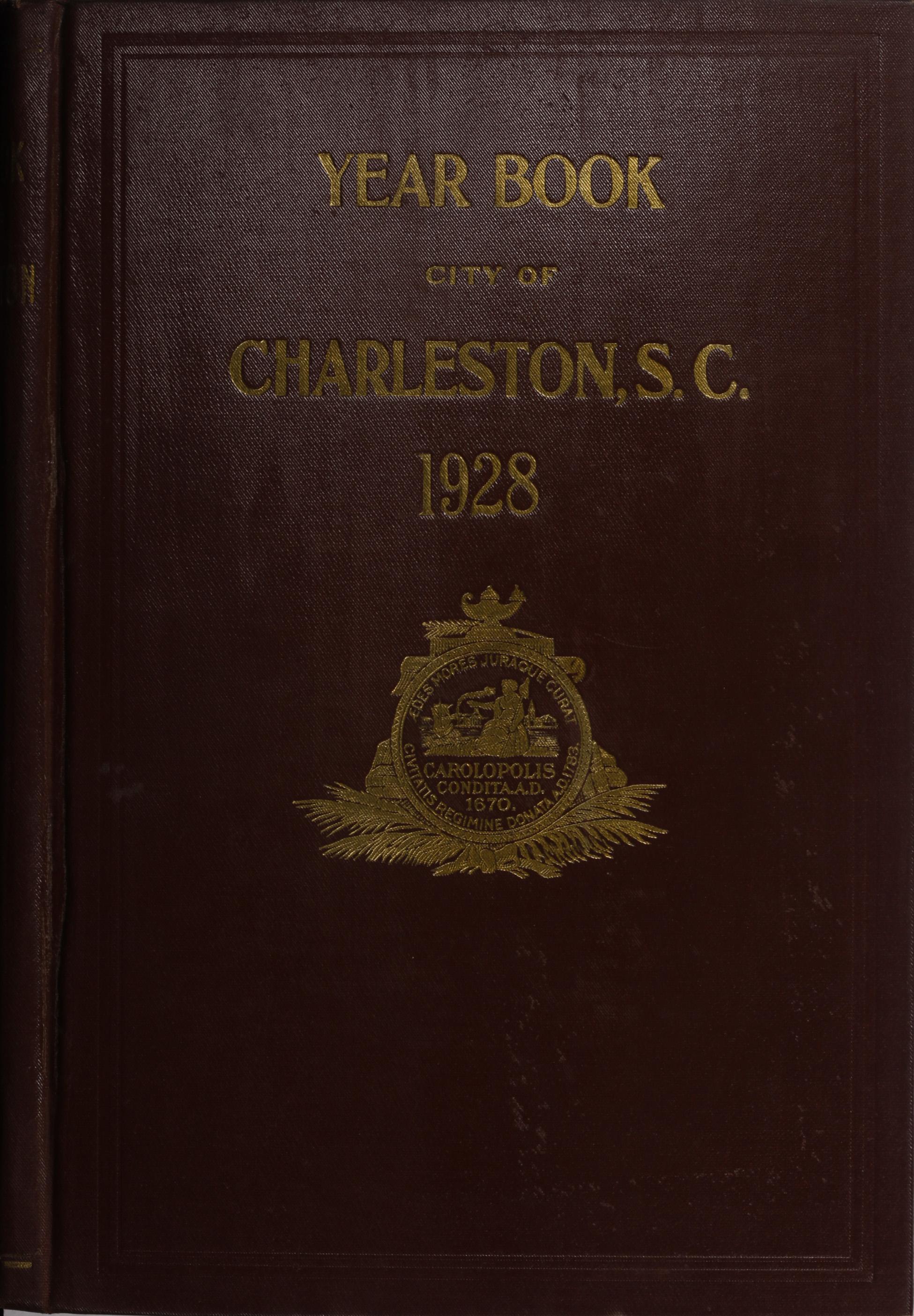 Charleston Yearbook, 1928, cover