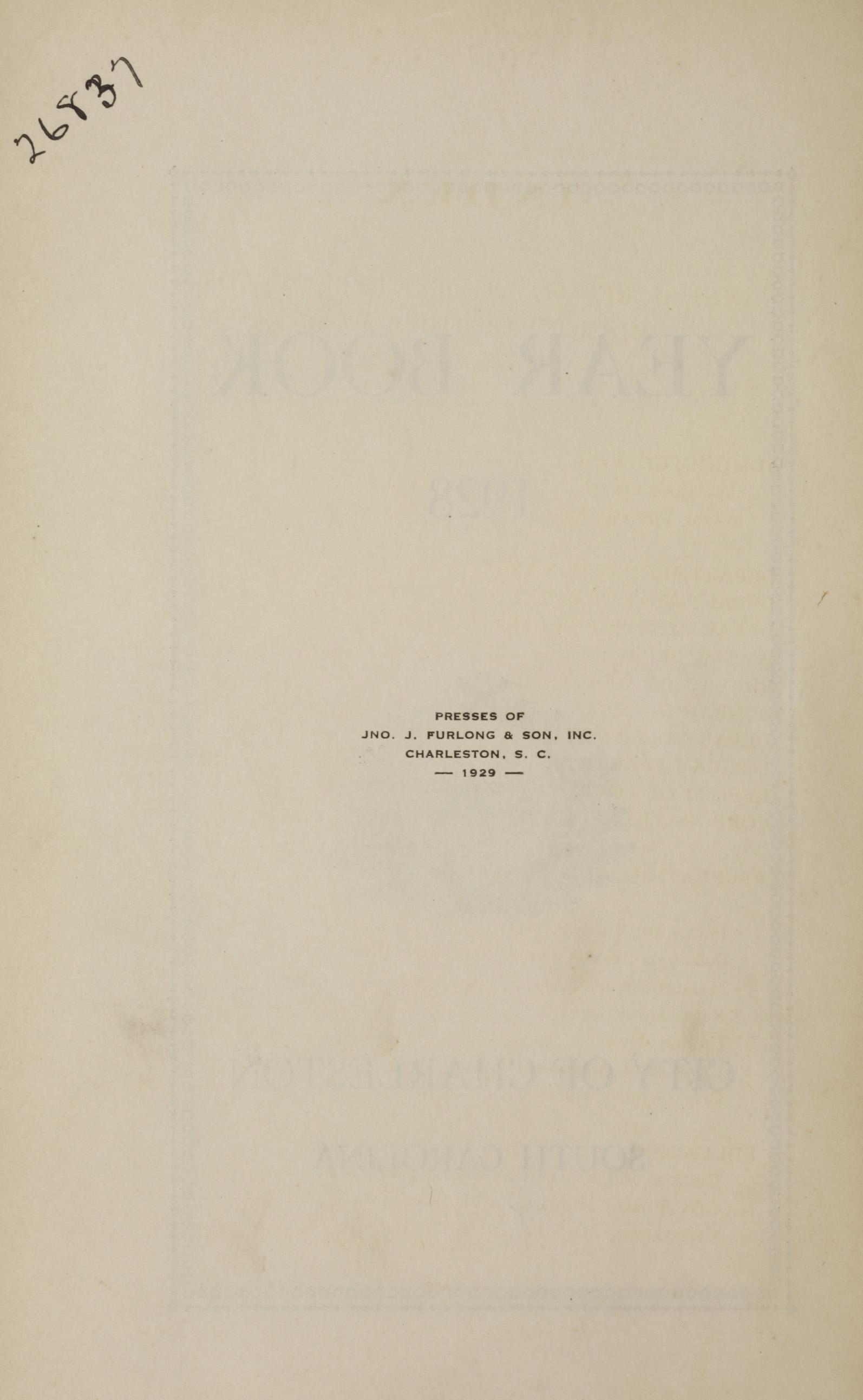 Charleston Yearbook, 1928, page ii
